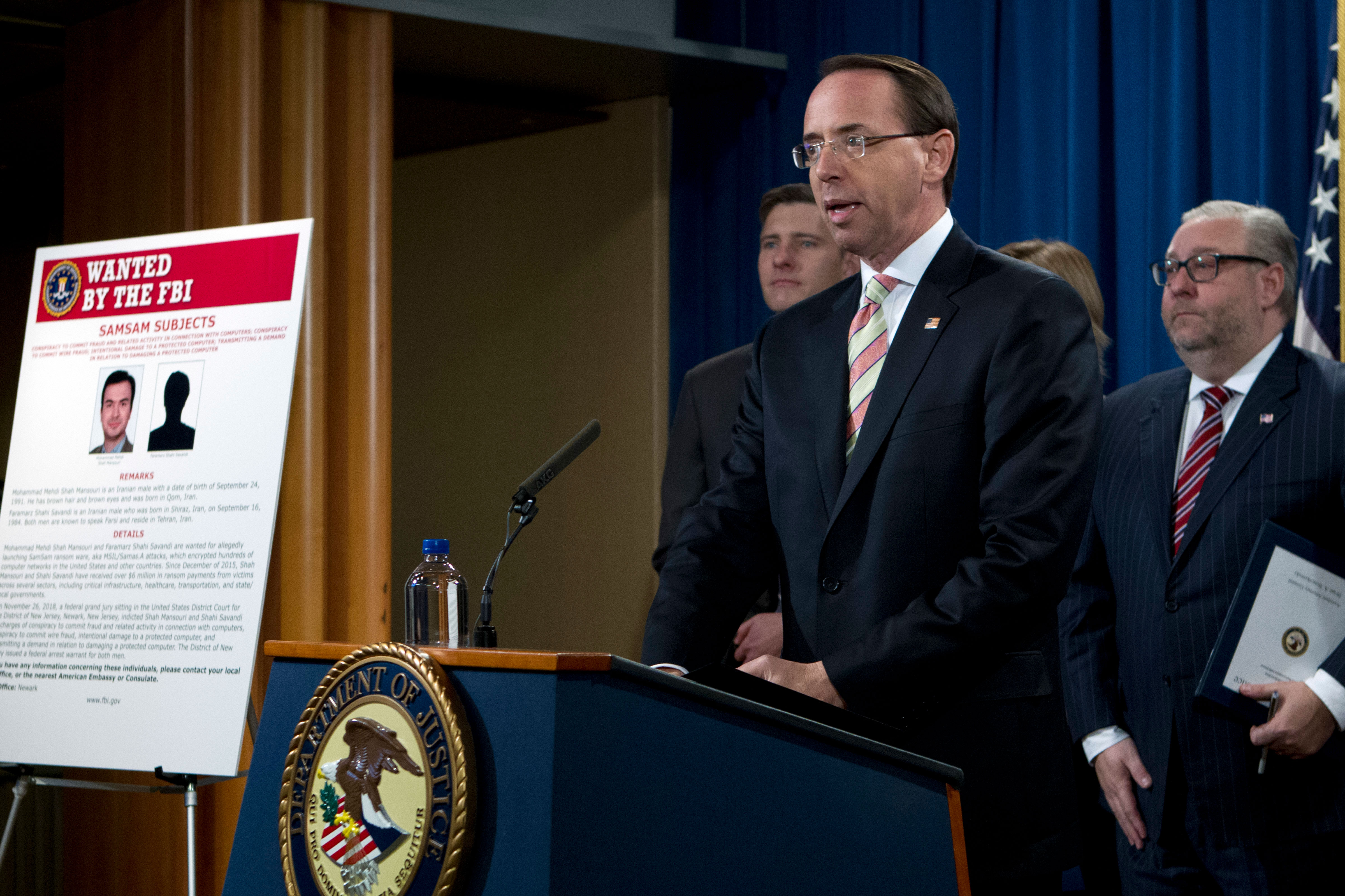 Photo: Iranian Cyber Extortion Indictment - AP