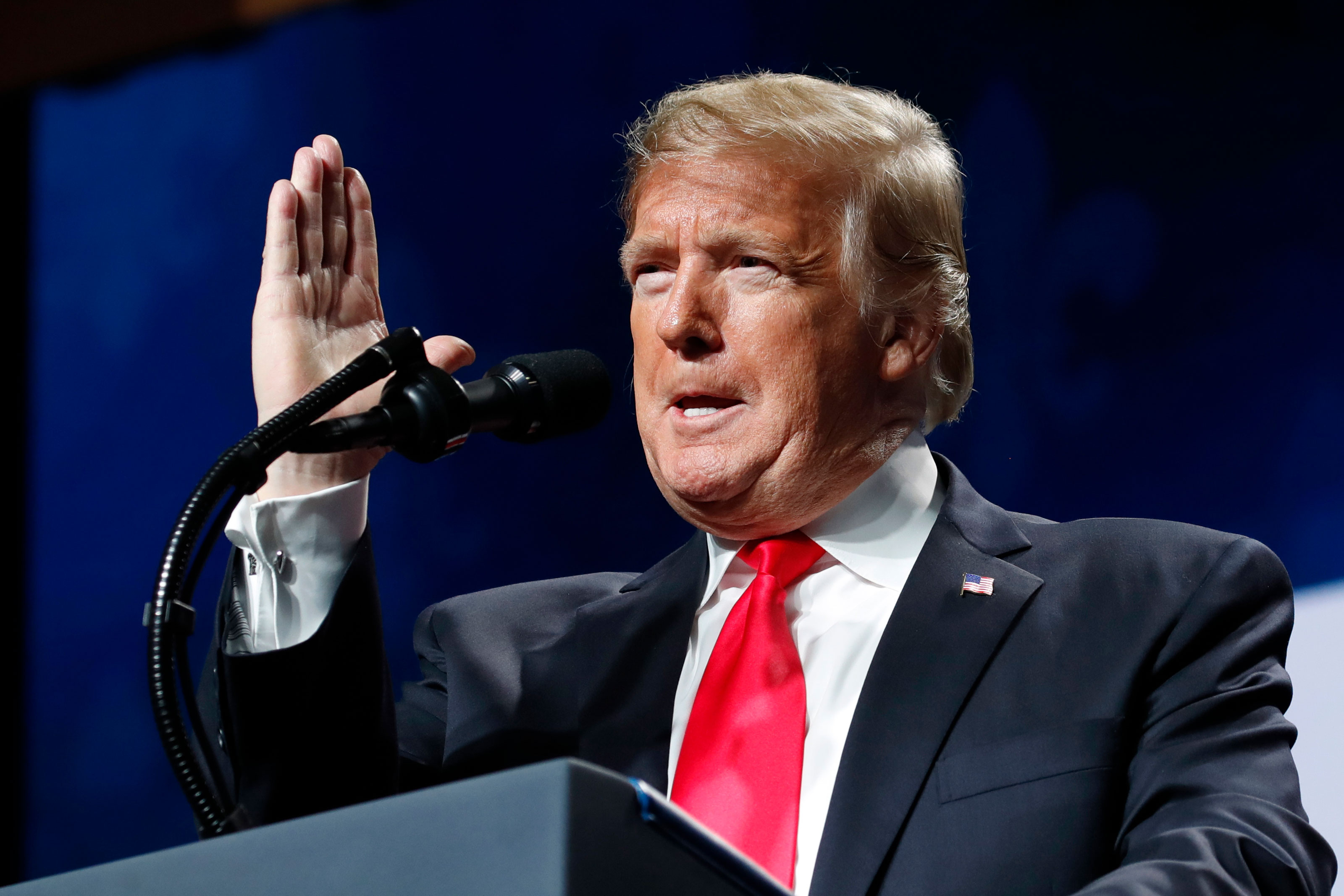 Photo: Govt Shutdown | Trump American Farm Bureau Address - AP