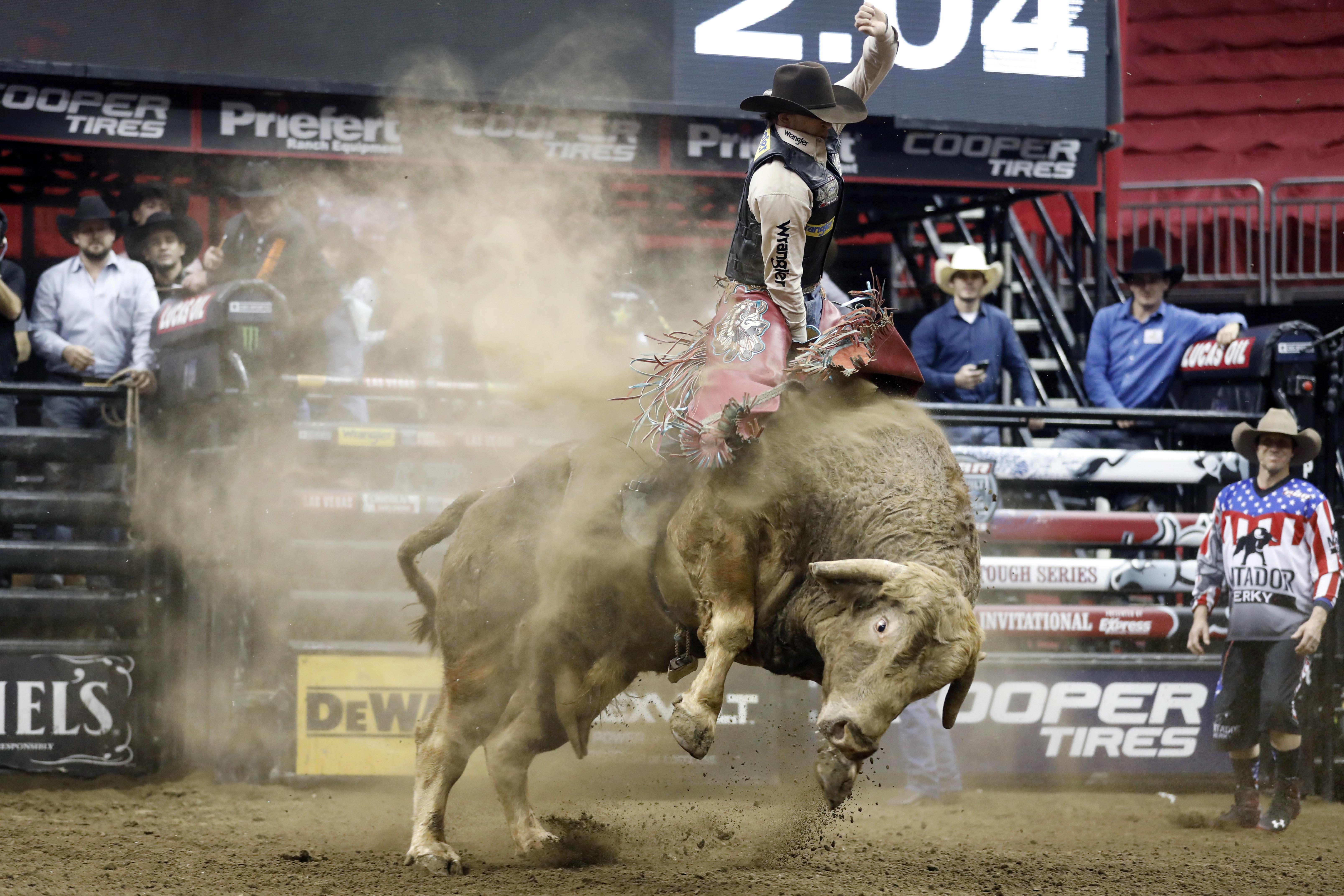 Photo: Mason Lowe Riding Bull Western Stock Show