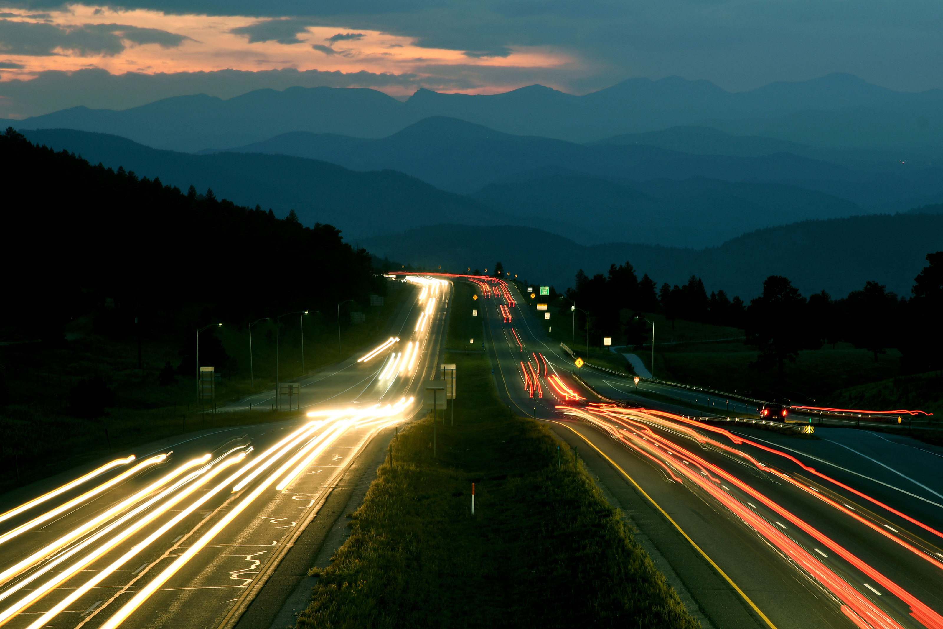 Photo: Colorado Ski Traffic 1 | I-70 Night Long Exposure - AP