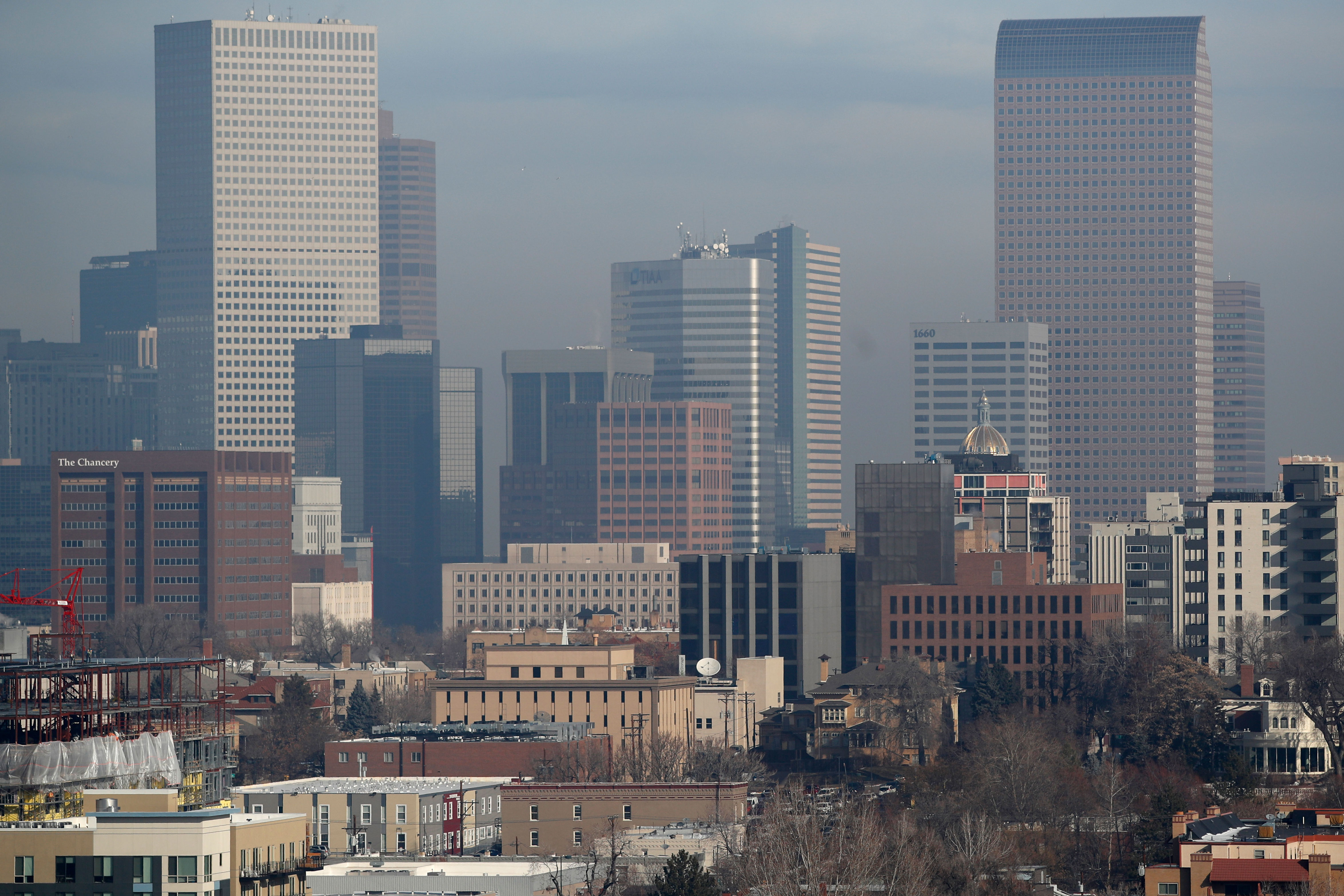 Denver downtown,pollution,denver downtown
