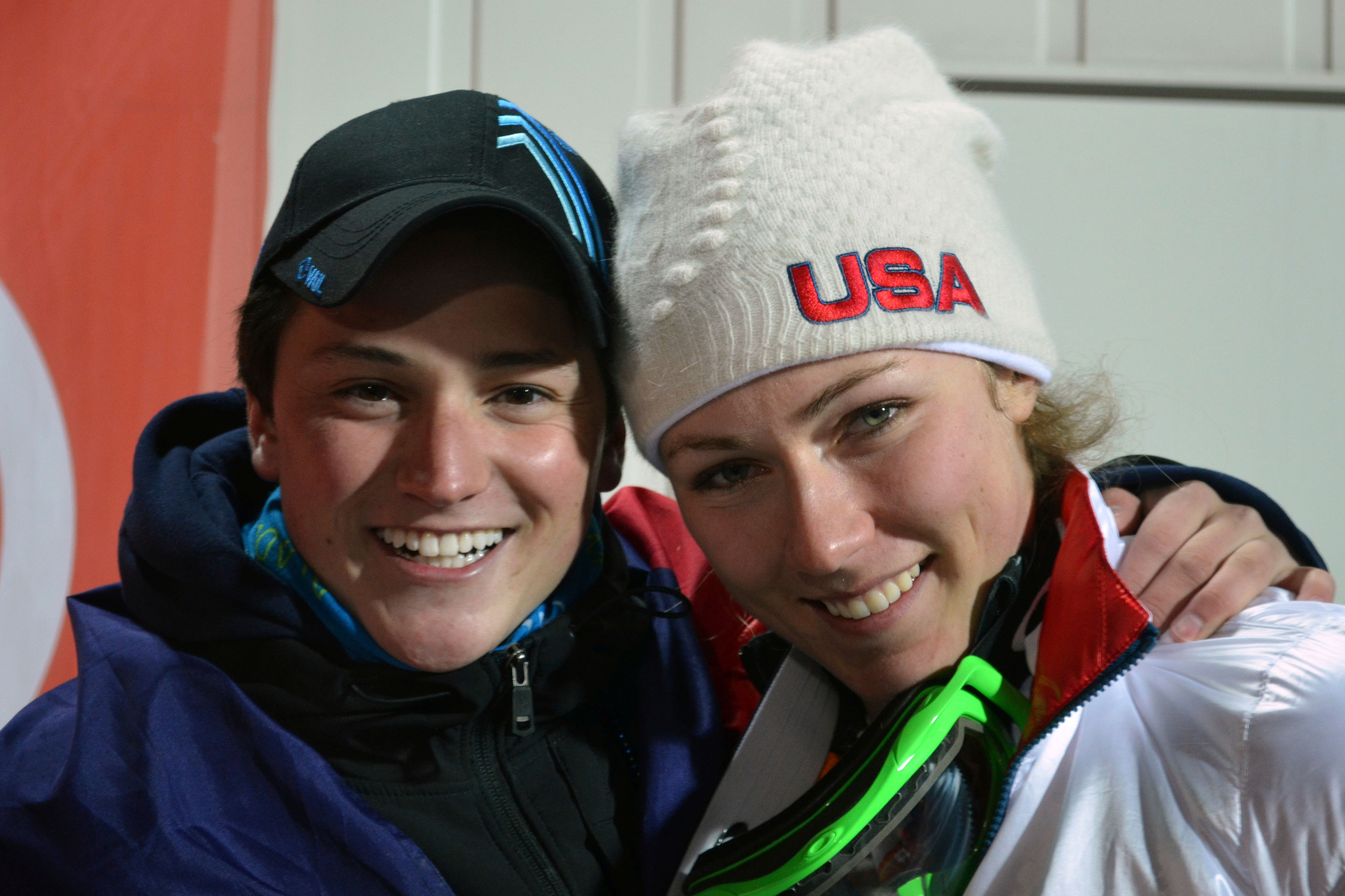 Photo: Thomas Walsh & Mikaela Shiffrin 2014 - AP