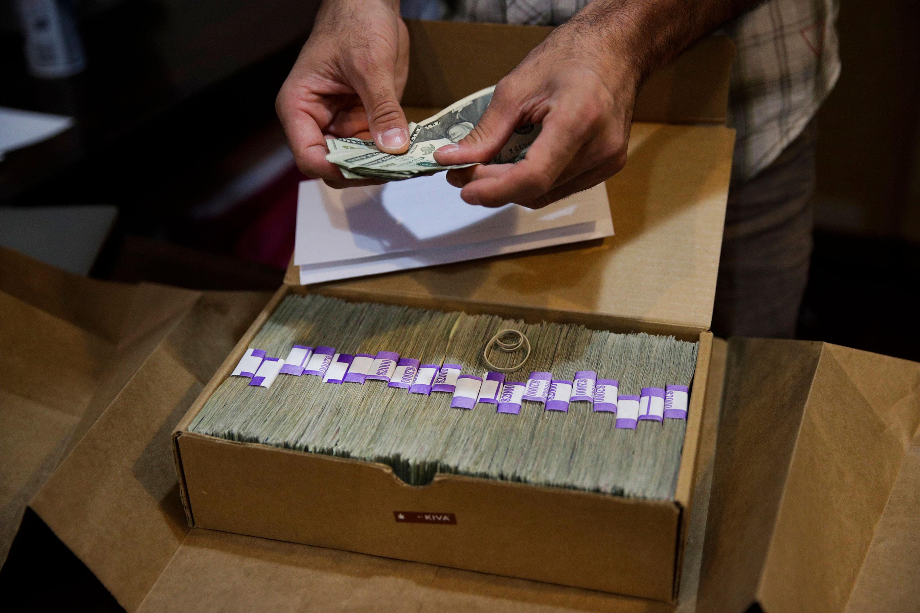 Photo: Marijuana Banking | Box of Cash - AP