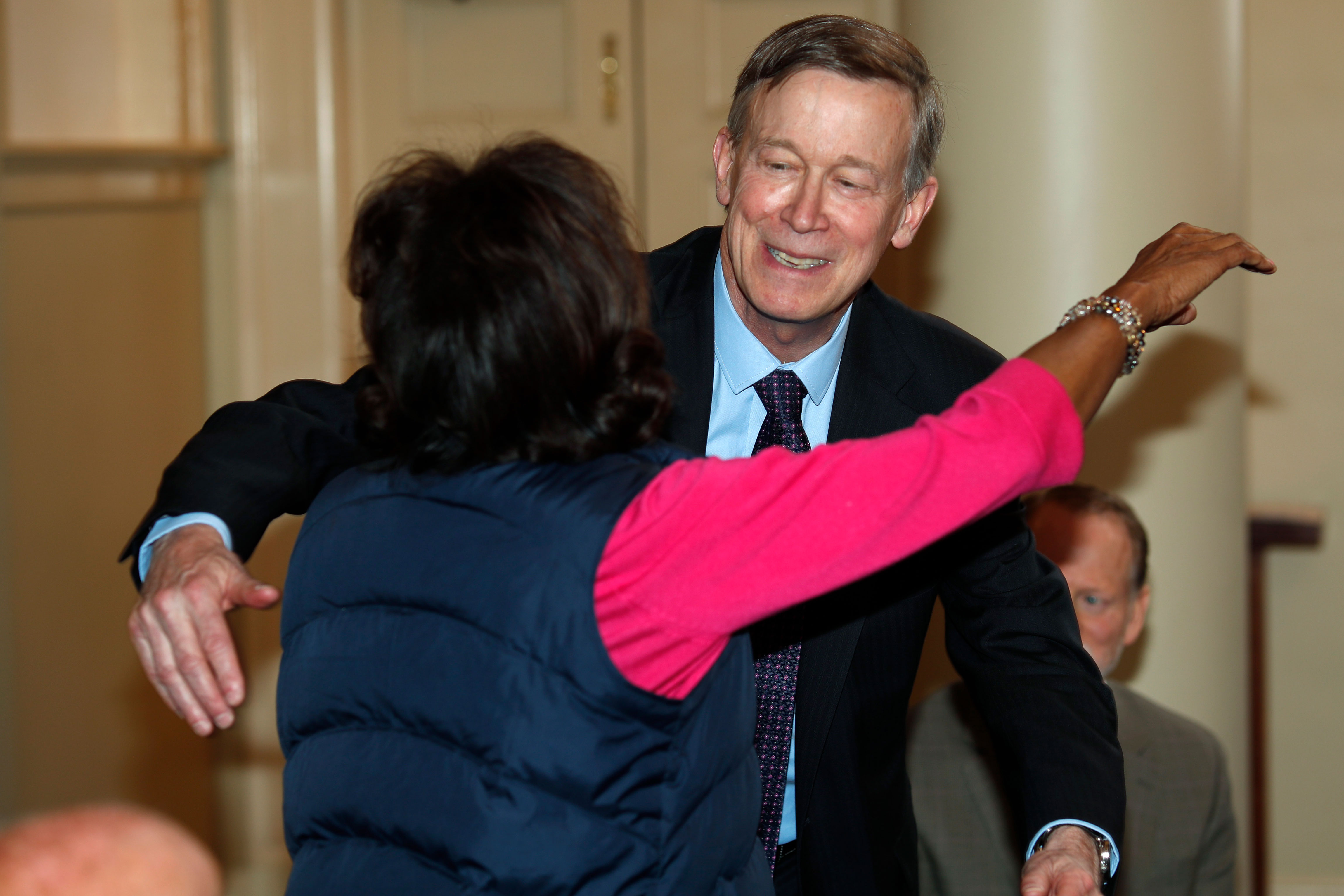Photo: Election 2020 | Hickenlooper Meets With Colo Shooting Victims - AP