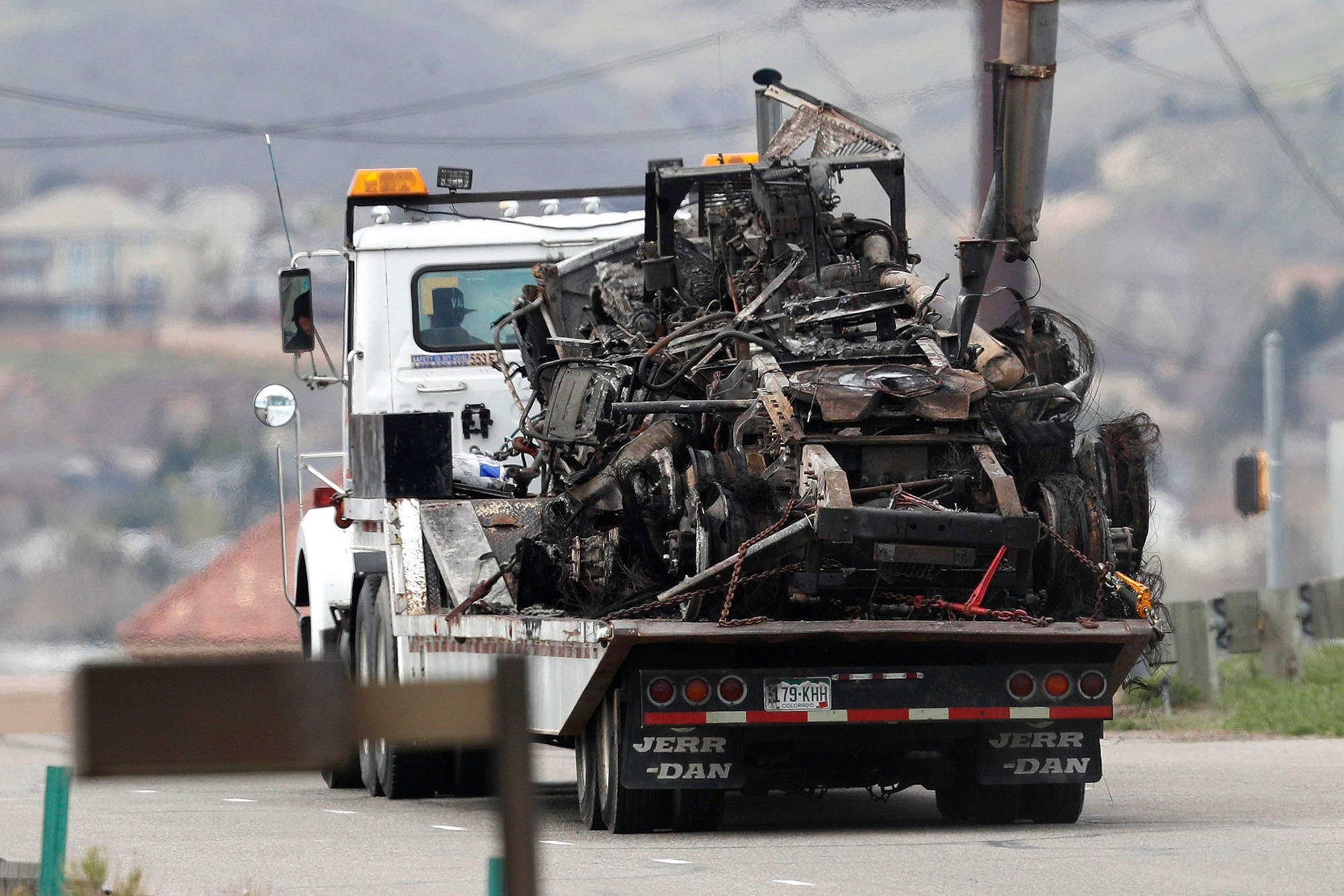 Photo: I-70 Truck Wreck Aftermath 2 AP 20190429