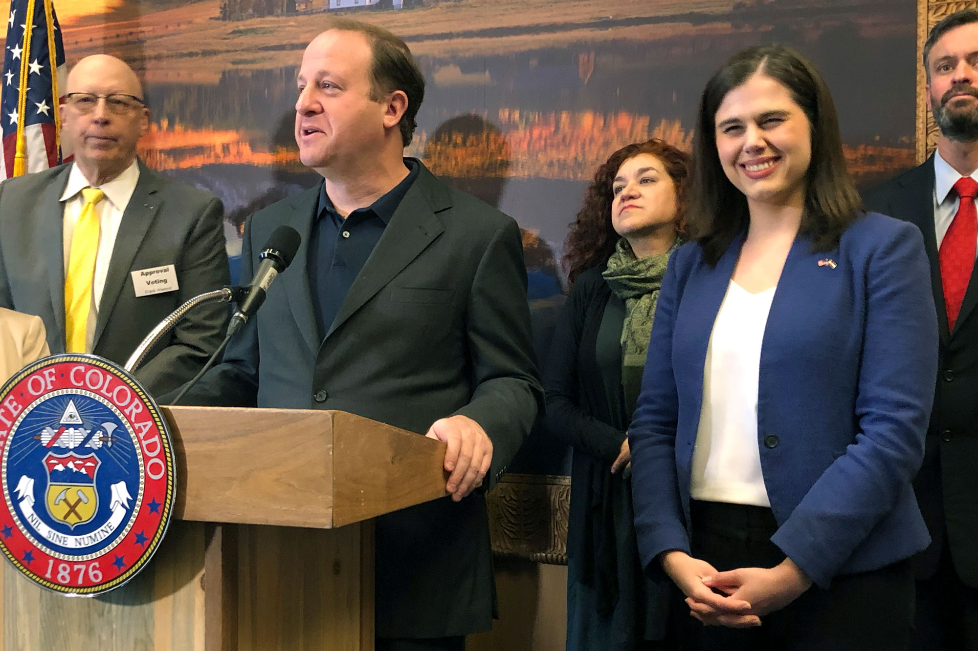 Photo: Jared Polis Jena Griswold Super Tuesday