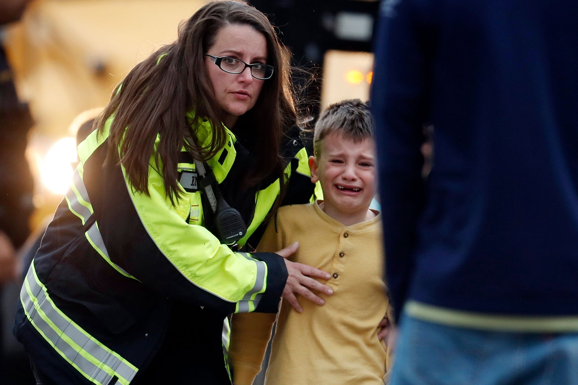 Photo: STEM School Shooting 6 | Tuesday Rec Center Parent Pickup - AP