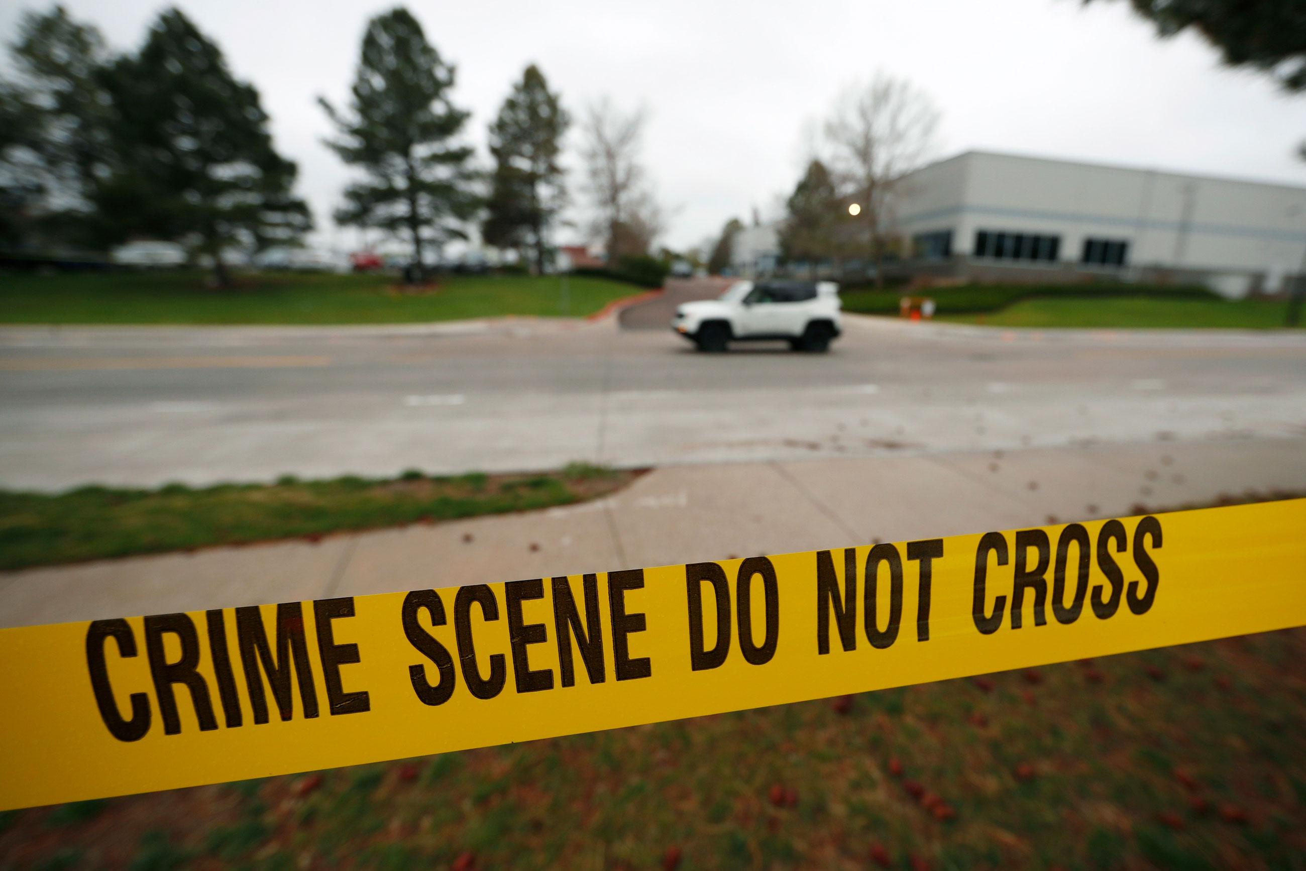 Photo: STEM Shooting 12 | School Police Tape - AP