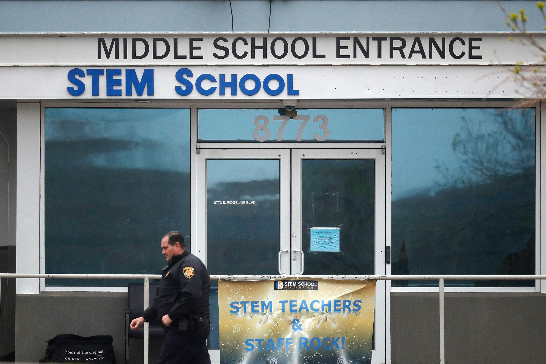 Photo: STEM School Shooting 7 | Middle School Entrance - AP