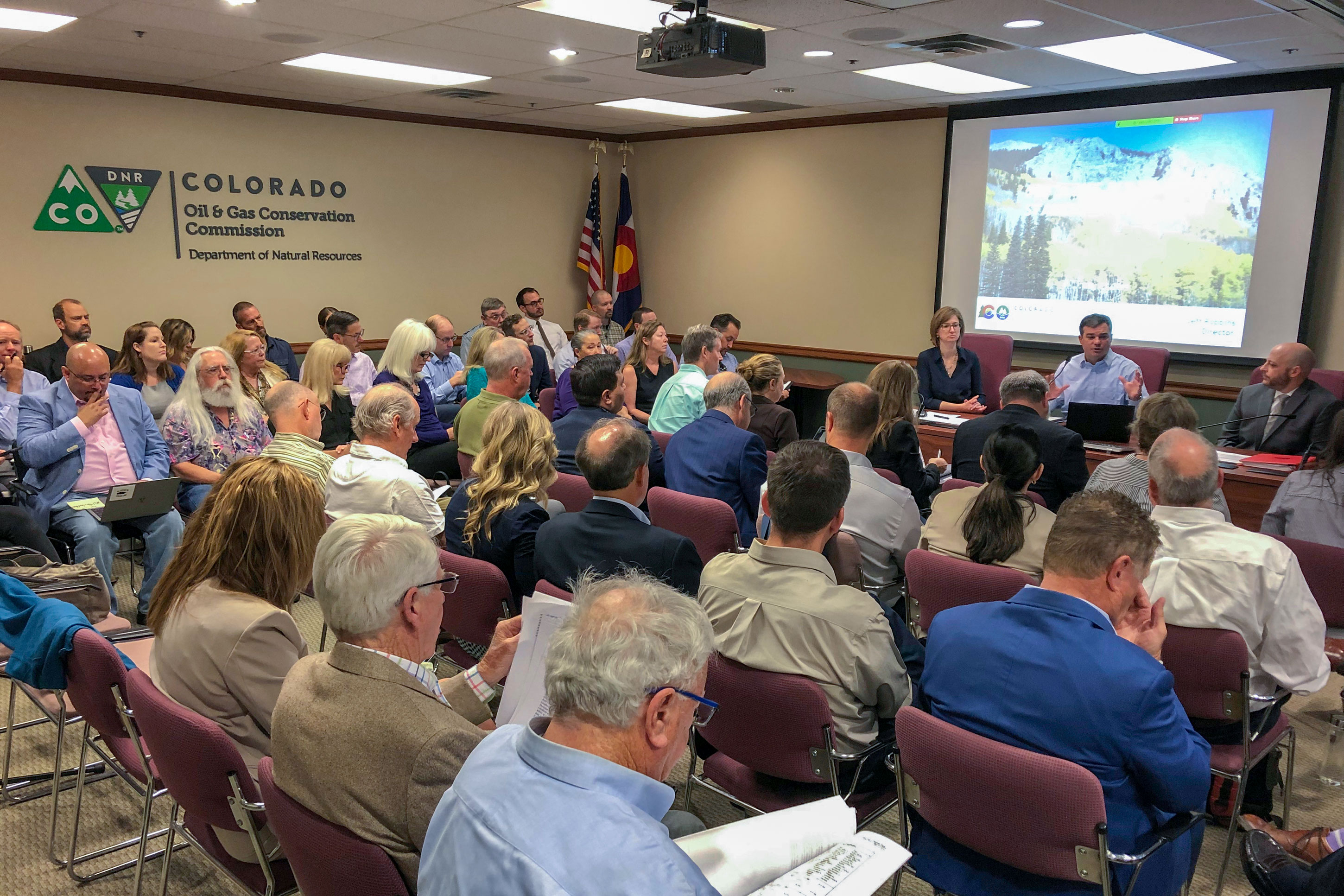 Photo: May 2019 COGCC Hearing | Staff Members, Public Comment - AP