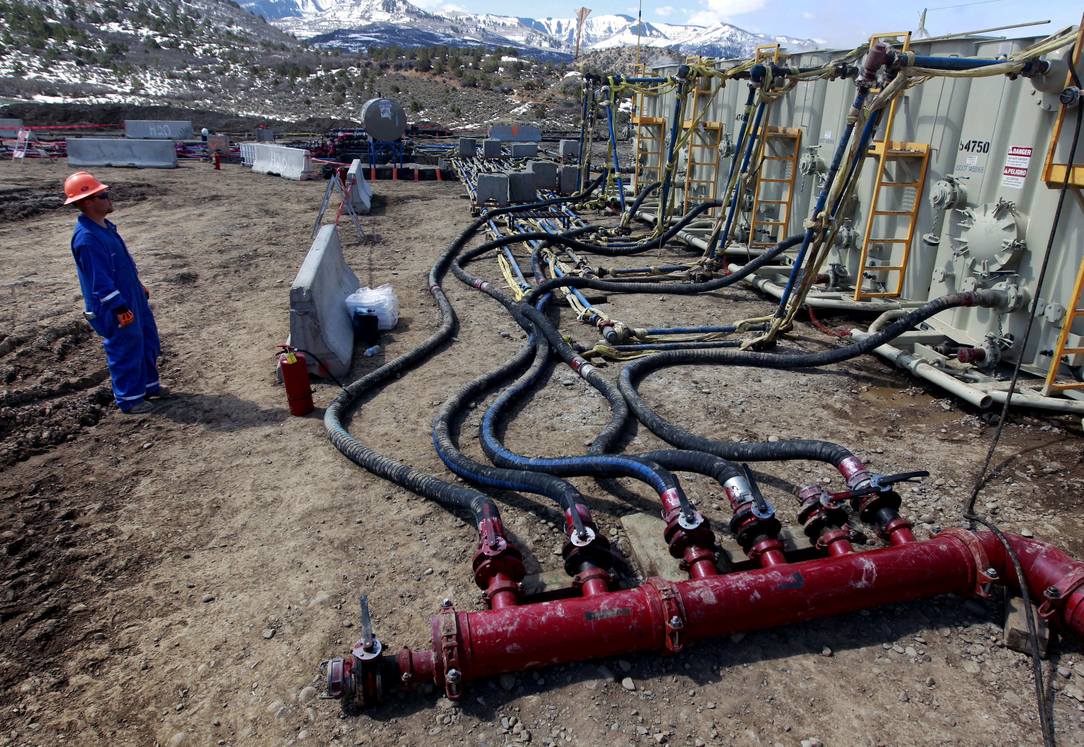 Photo: Oil And Gas Extraction Site Near Rifle - AP photo