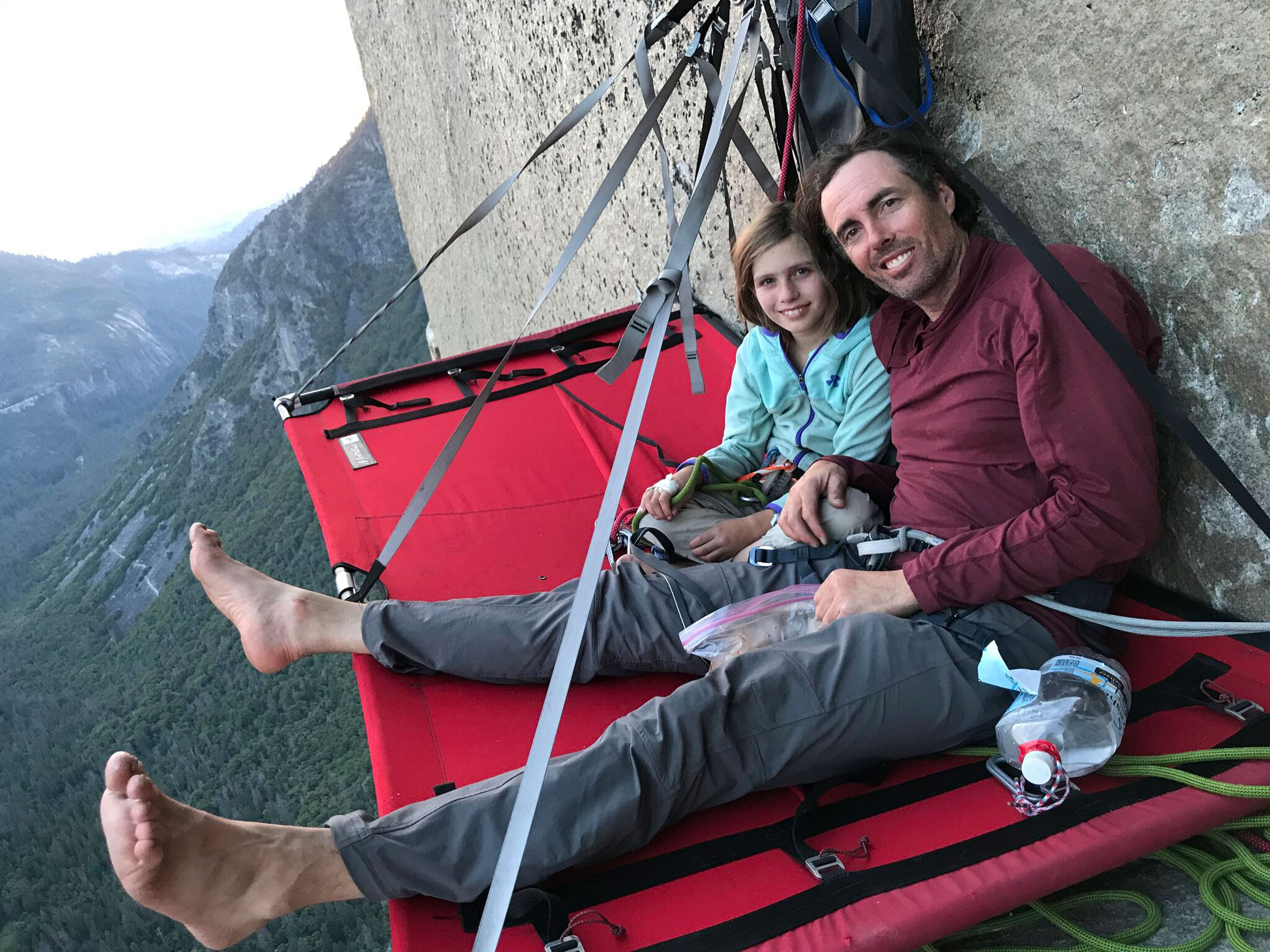 Photo: 10-yr-old Climbs El Capitan 1 | Michael and Selah Schneiter - AP