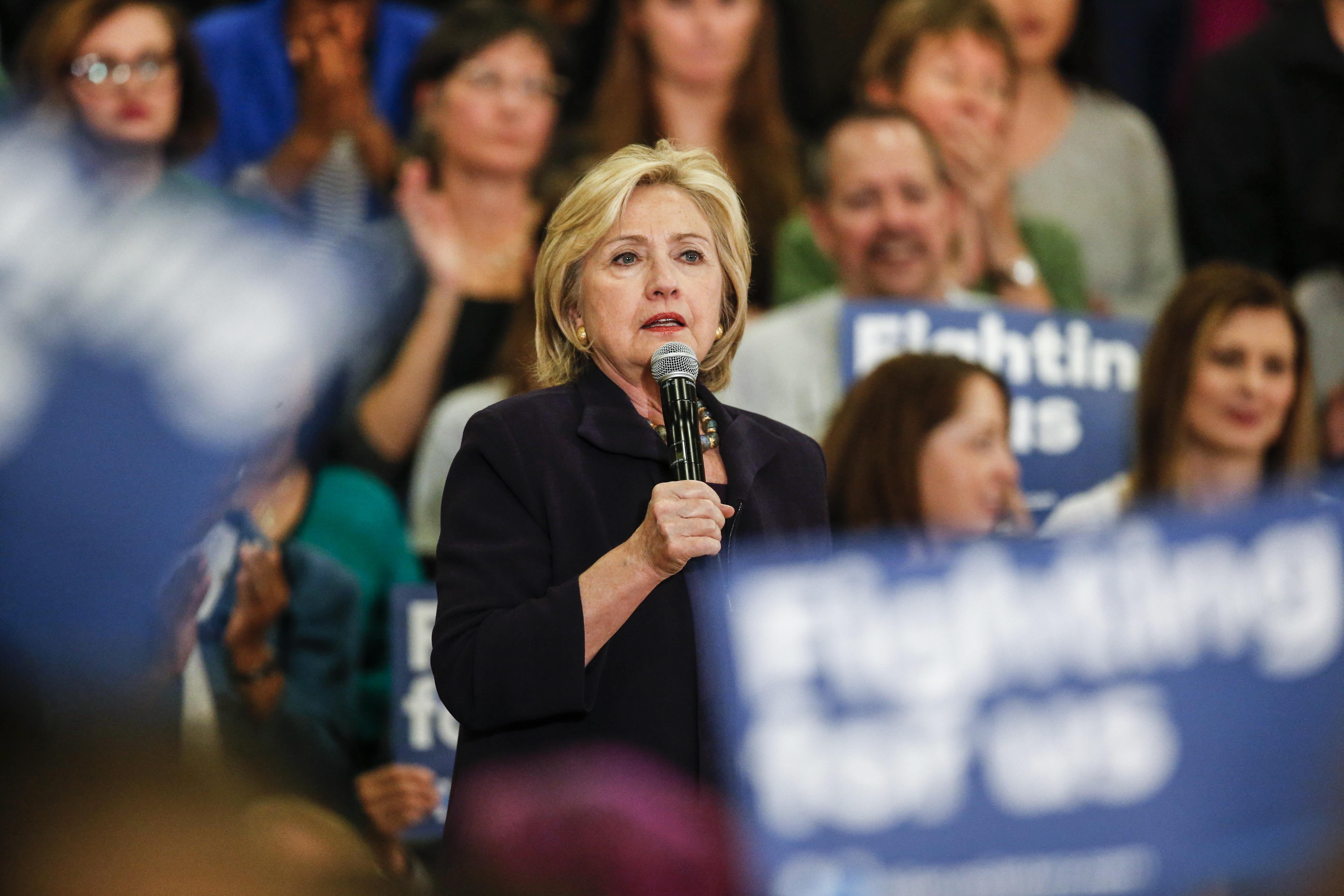 Photo: Hillary Clinton in Denver Nov 2015 (AP Photo)