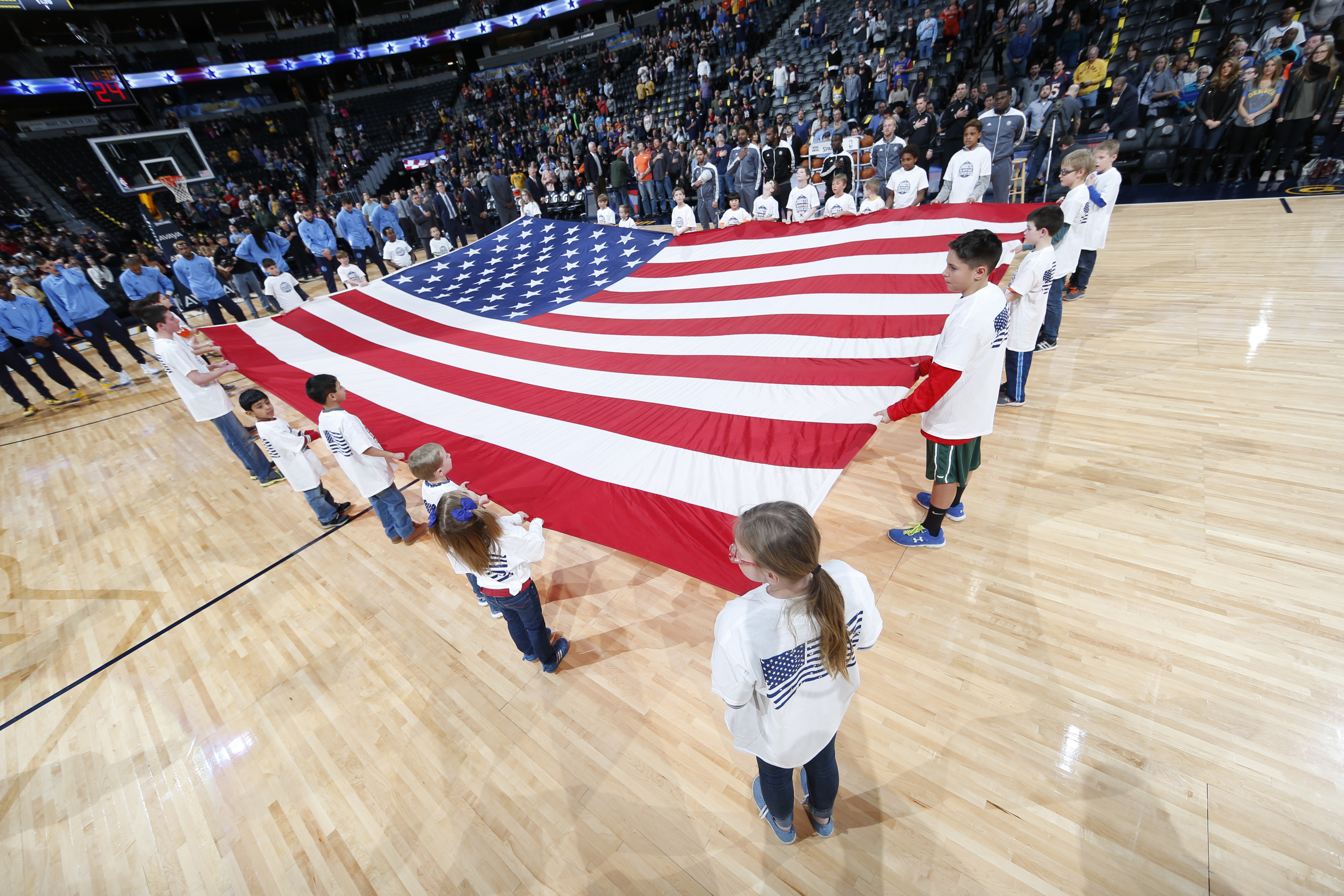 Photo: American Flag, Nuggets-Pacers Game, January 2016