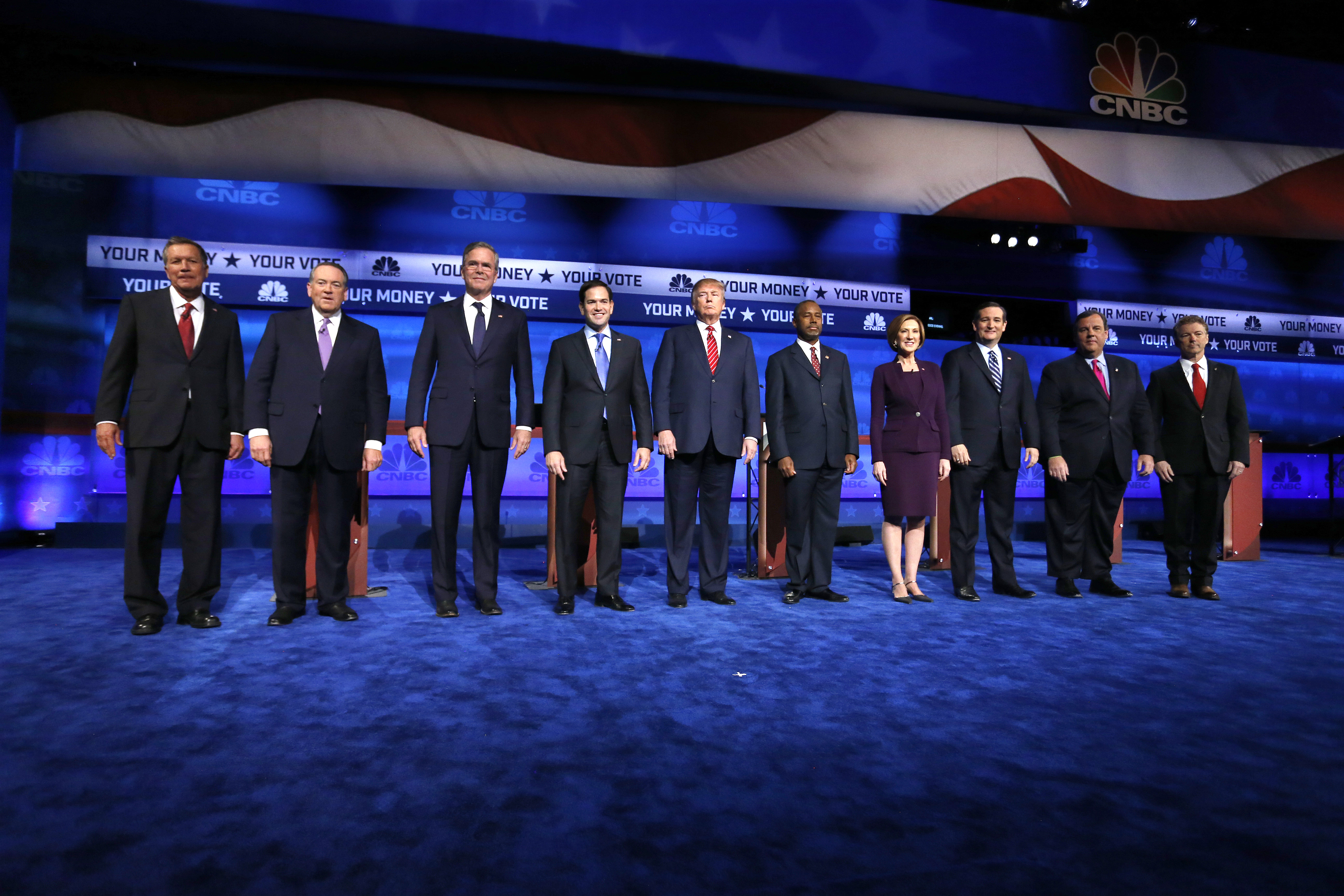 Photo: GOP Debate, Boulder, Top 10 Candidates
