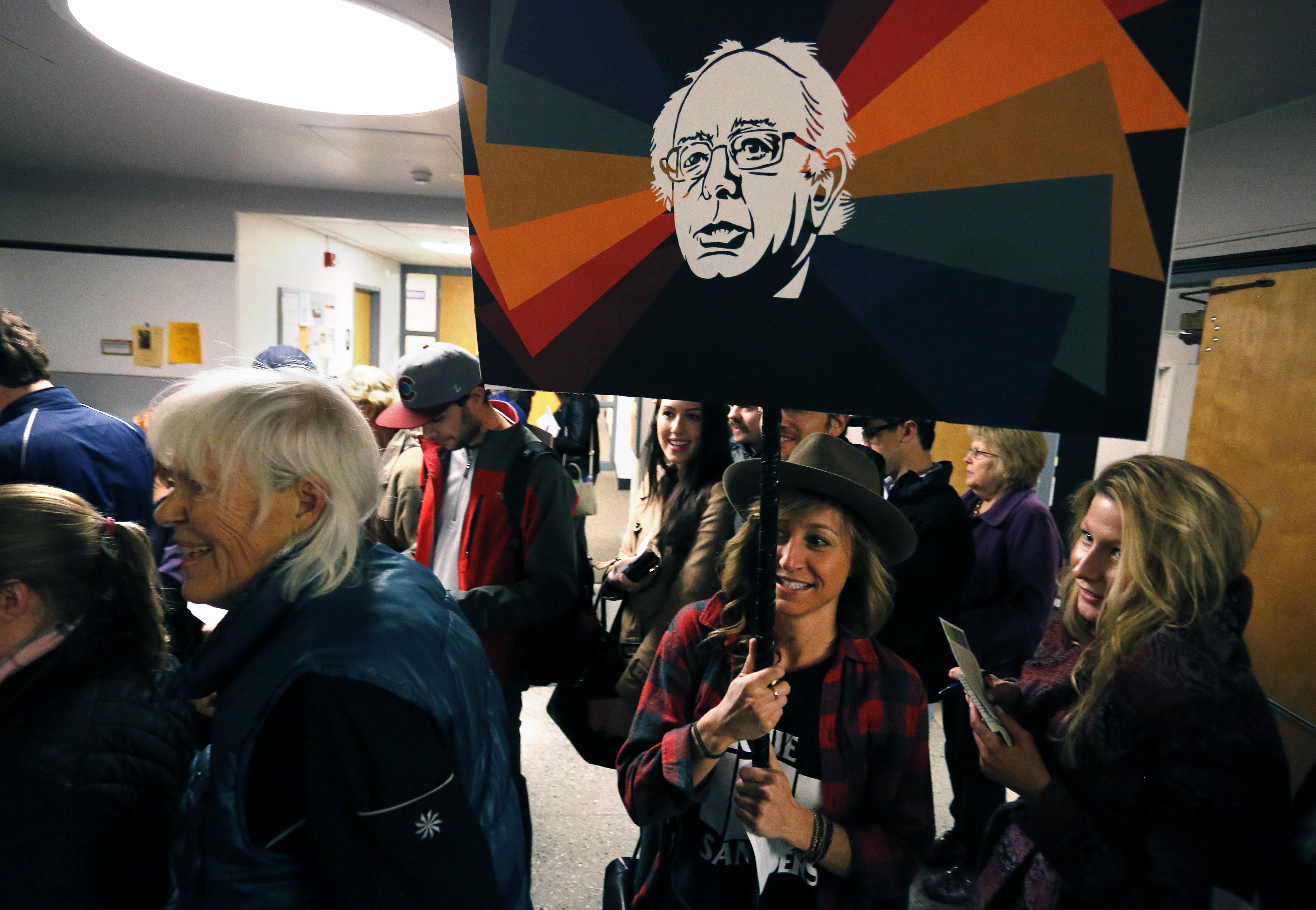 Photo: Colorado Caucus, Boulder, Sanders Supporter (AP)