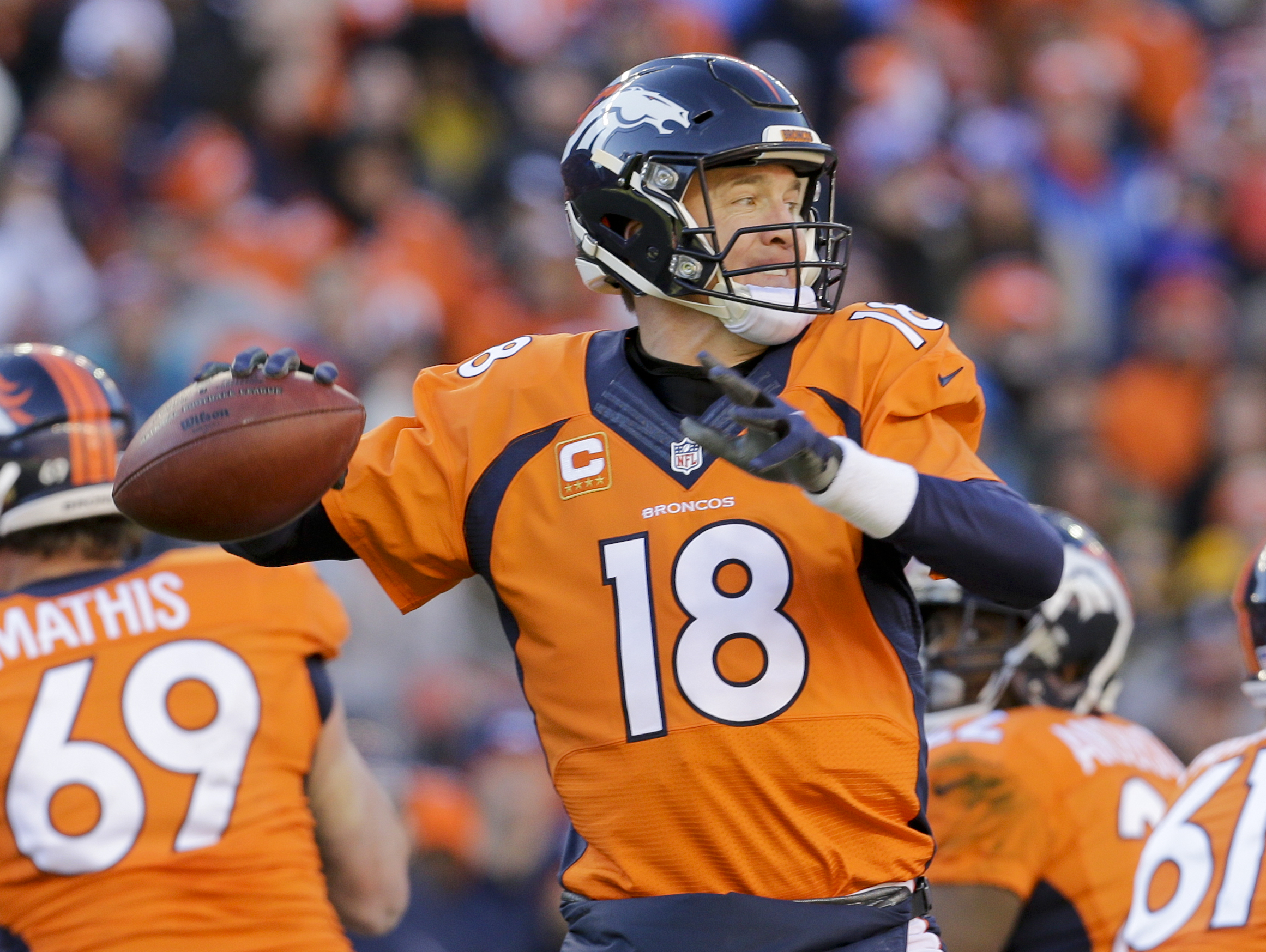 Photo: Peyton Manning, Jan. 2016 (AP Photo)