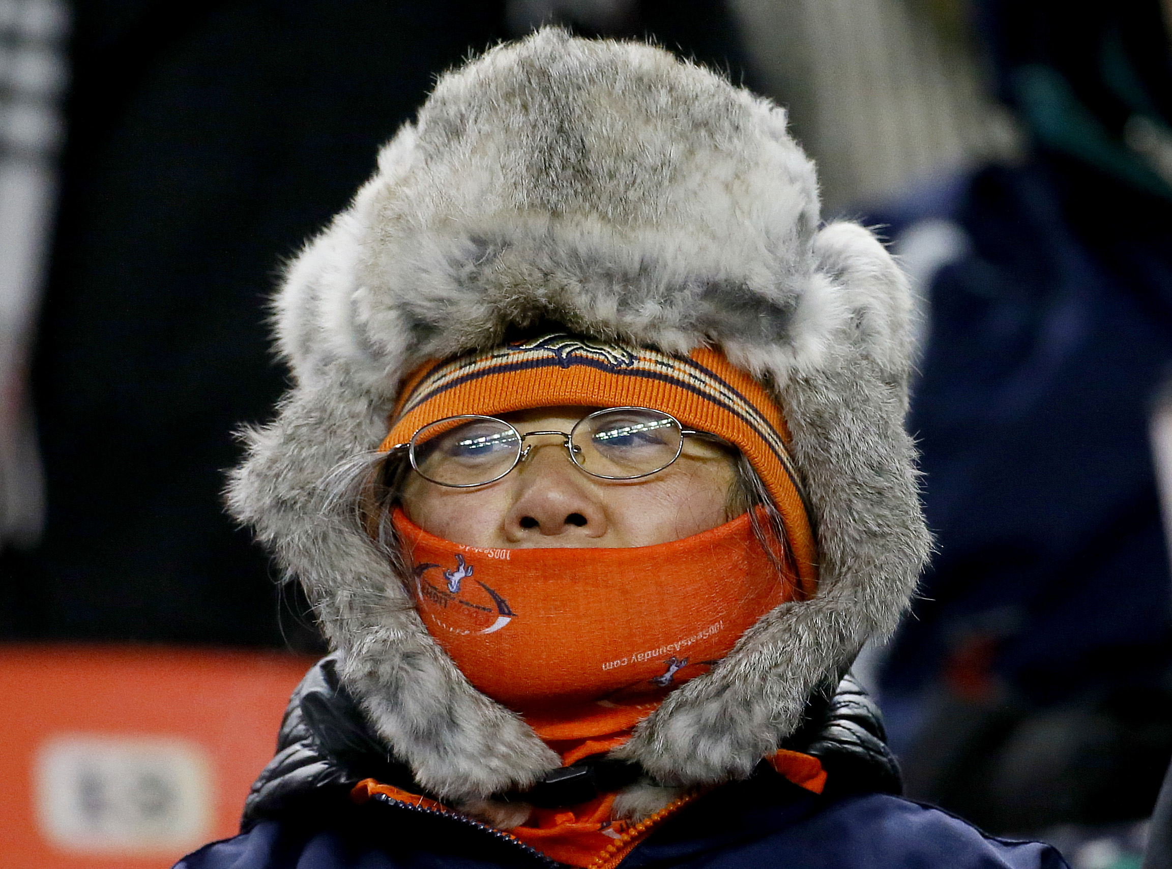 Photo: Broncos Fan Keeps Warm