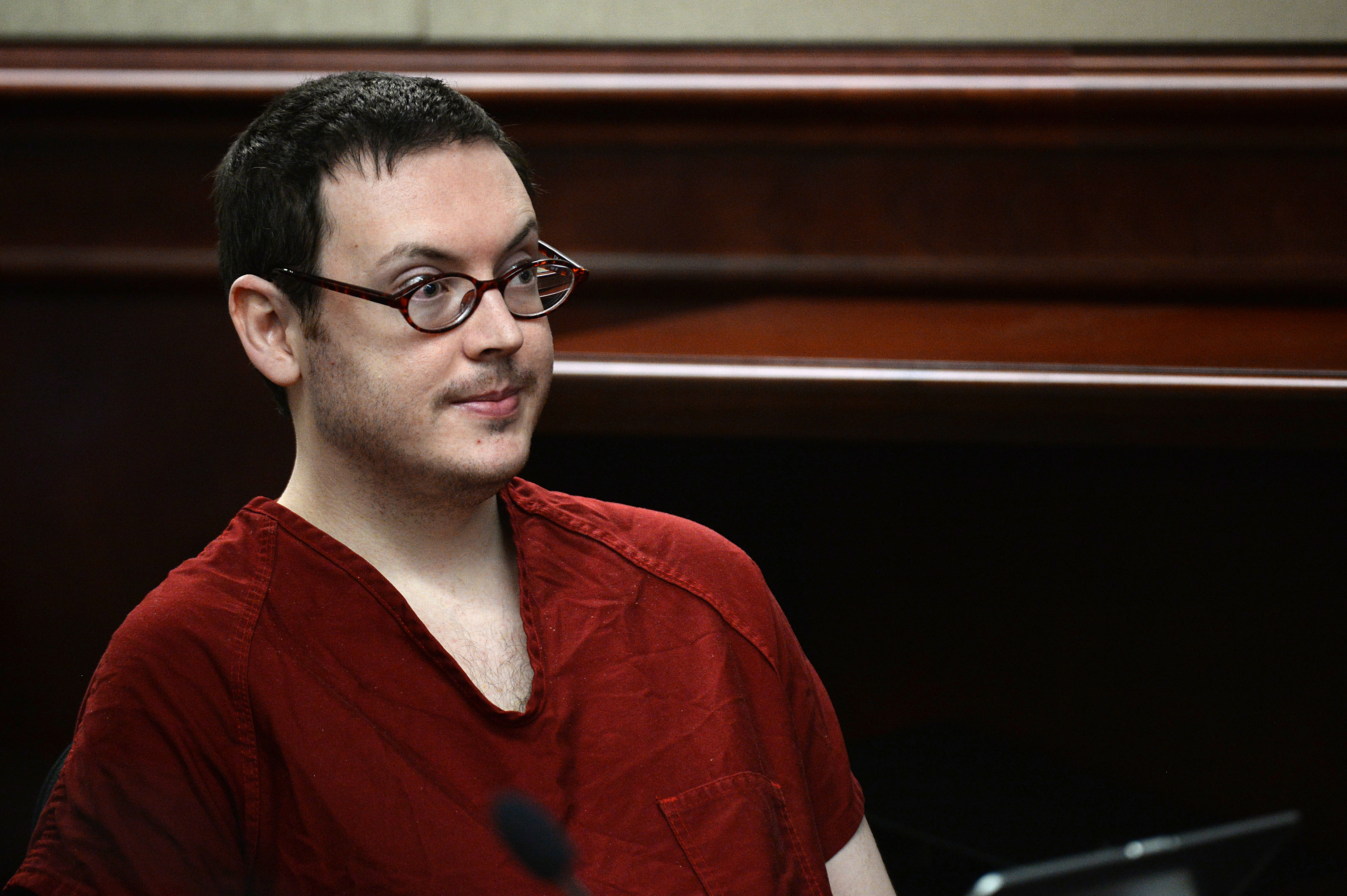 Photo: James Holmes in court August 2015 (AP Photo)