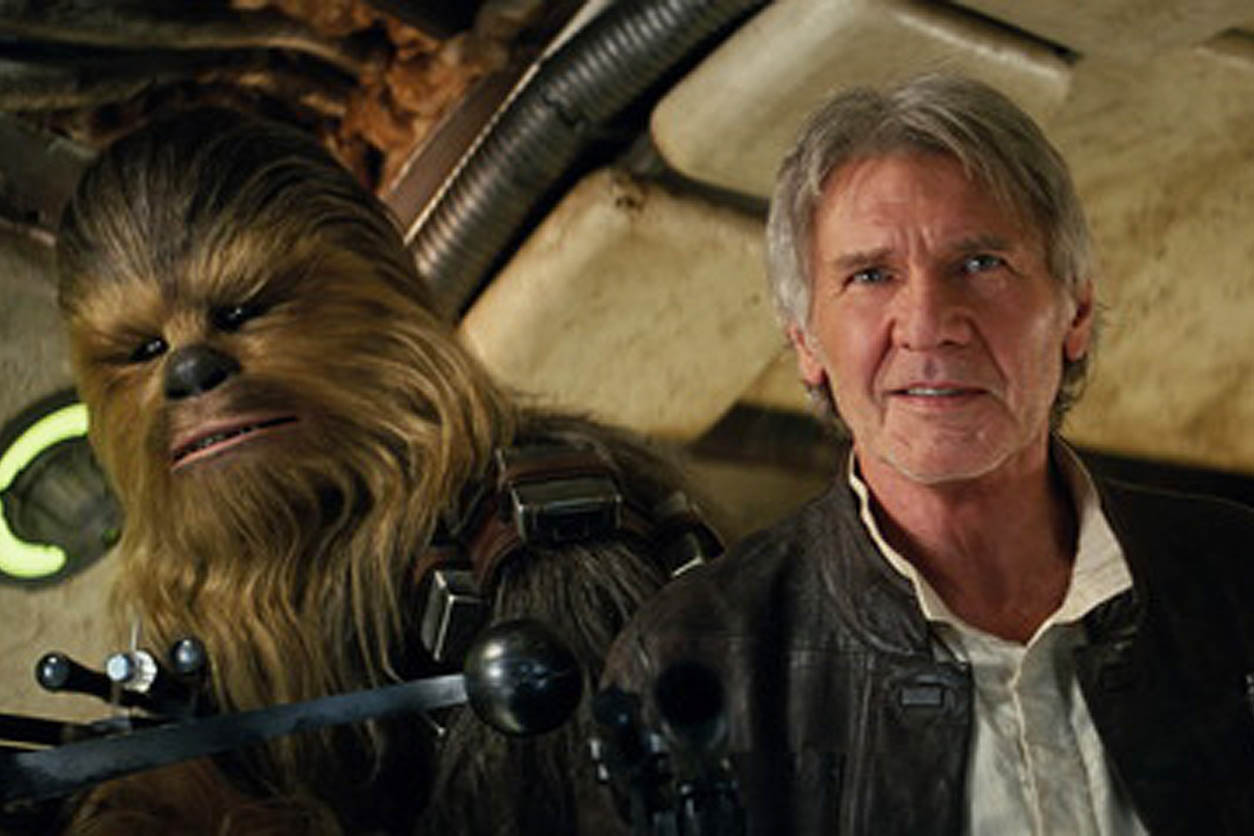 Photo: Star Wars, Ford, Han Solo, Chewbacca, 'The Force Awakens'
