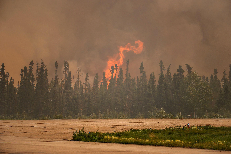 Photo: Smoke From Canada Wildfire