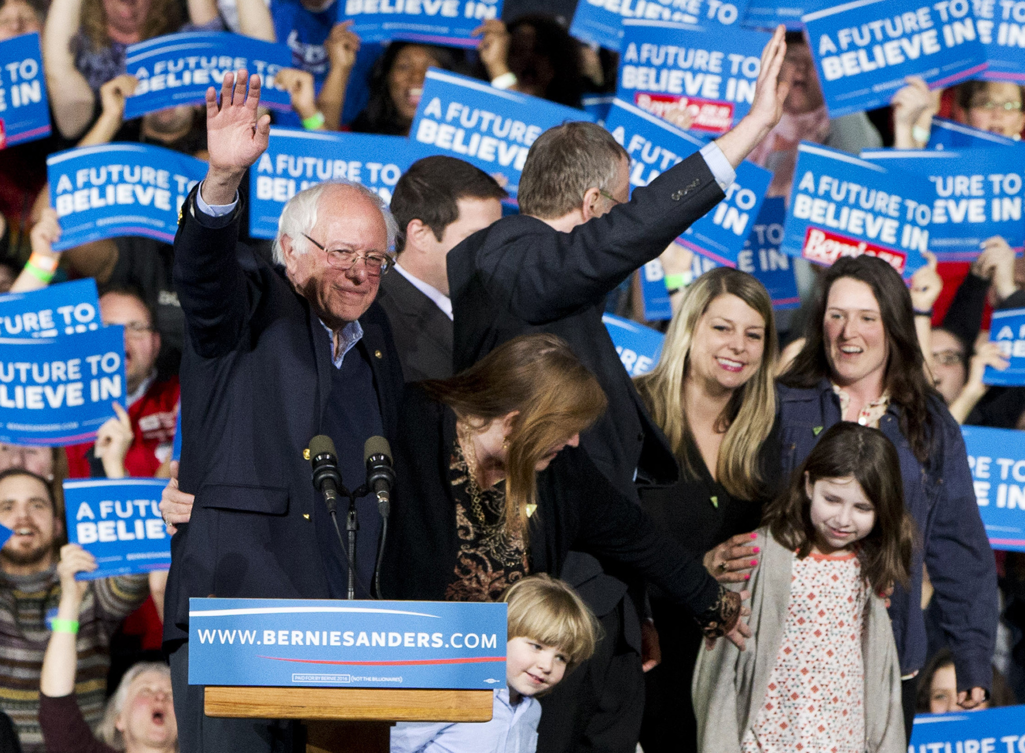 Photo: Sanders Super Tuesday (STAFF)