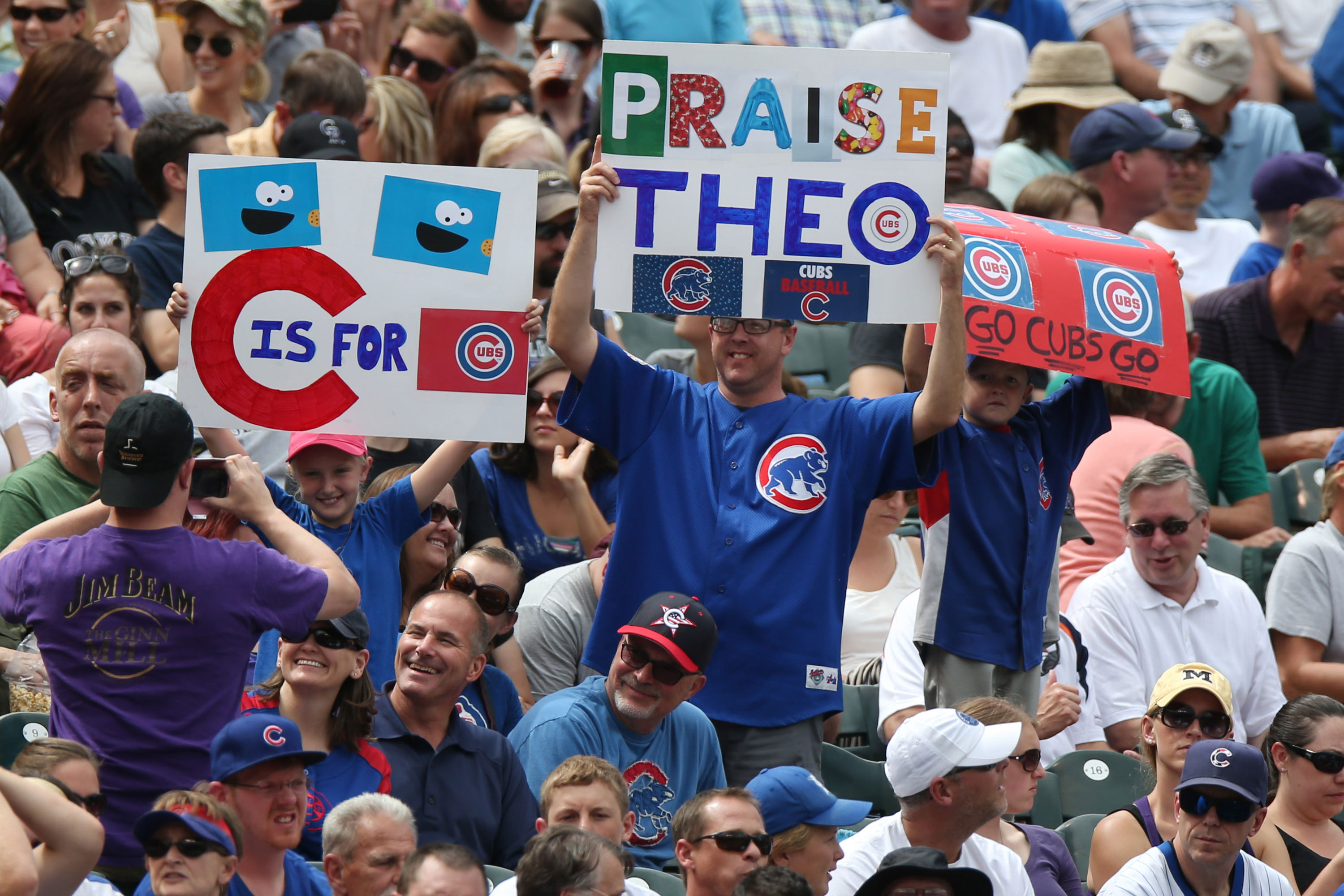 Photo: Chicago Cubs Fans At Coors Field, AP, Aug 7 2014