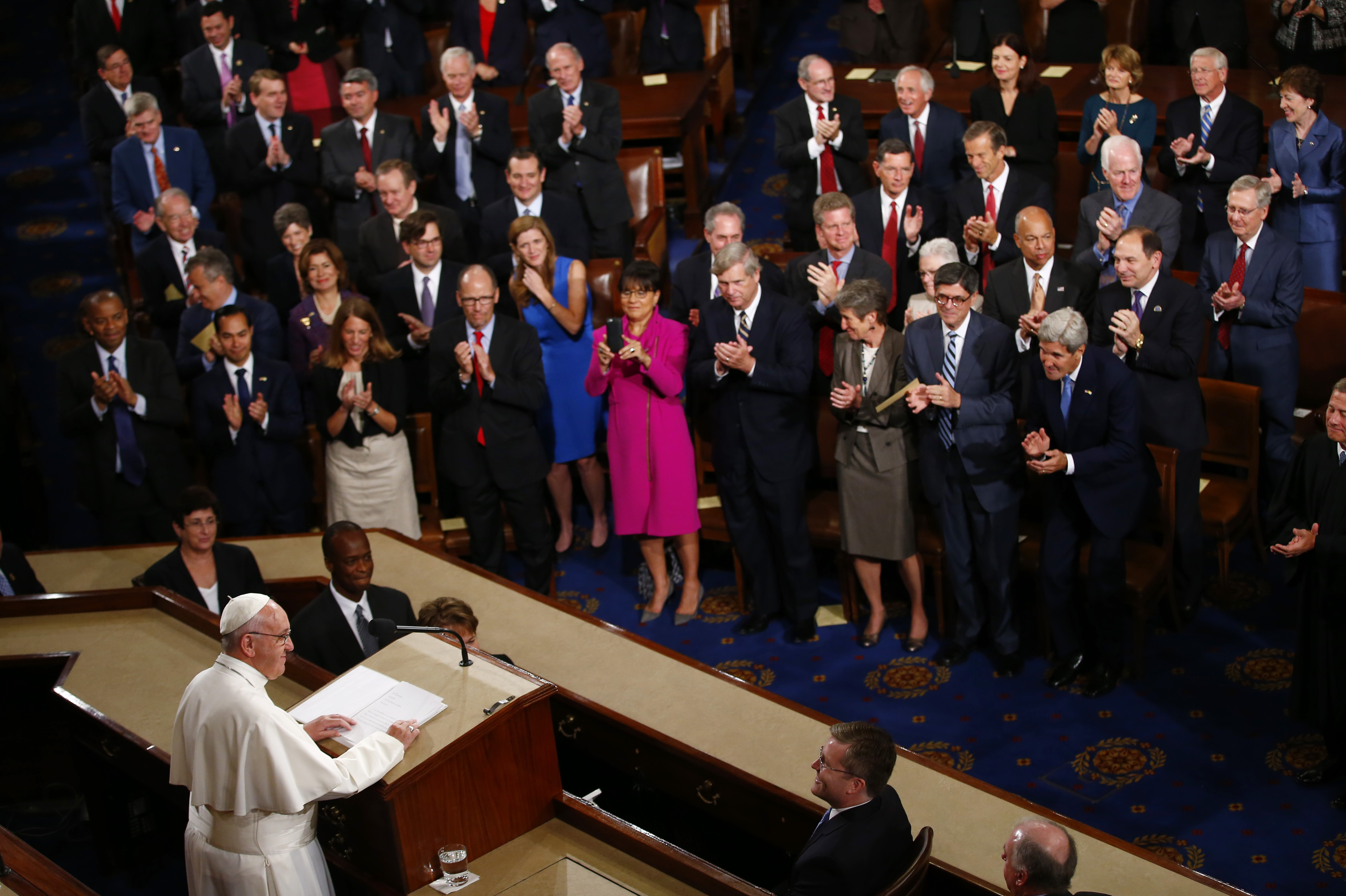 Photo: Pope Francis speaks to Congress (AP Photo)