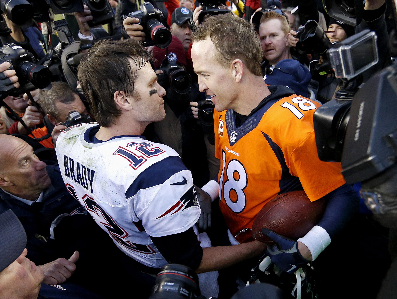 Photo: Tom Brady, Peyton Manning (AP Photo)