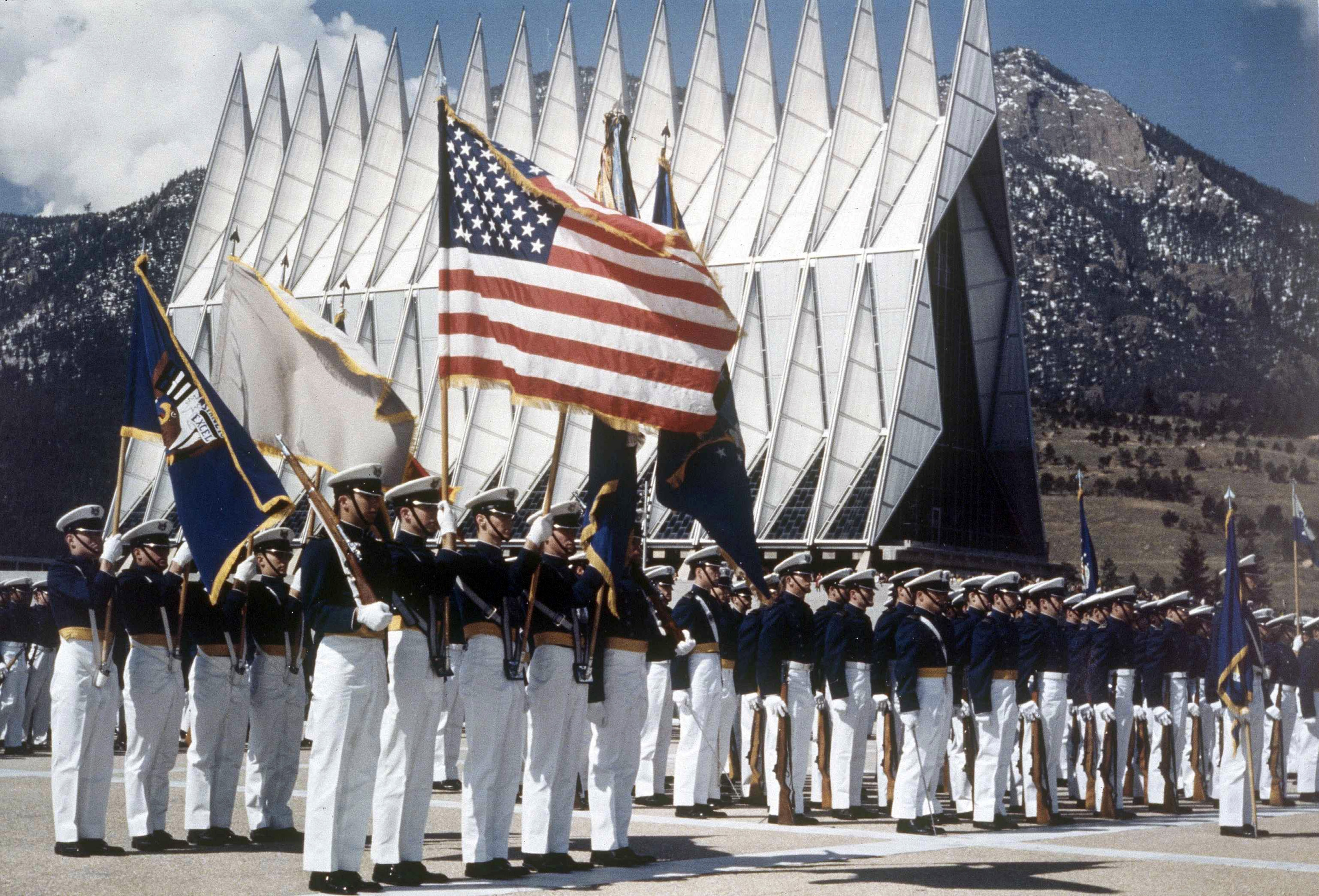 Photo: Cadets in formation at the Air Force Academy