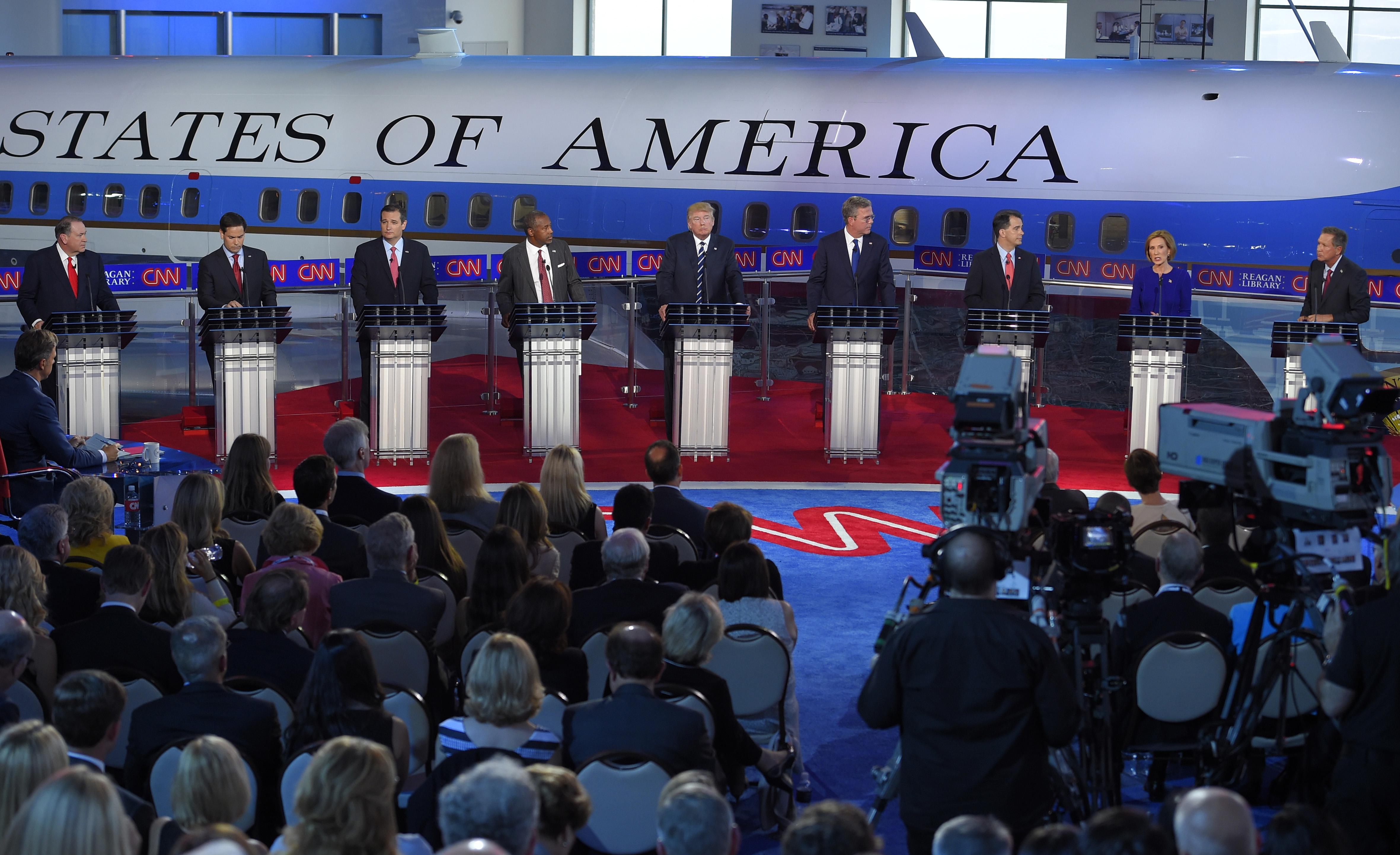 Photo: September Republican debate (AP Photo)