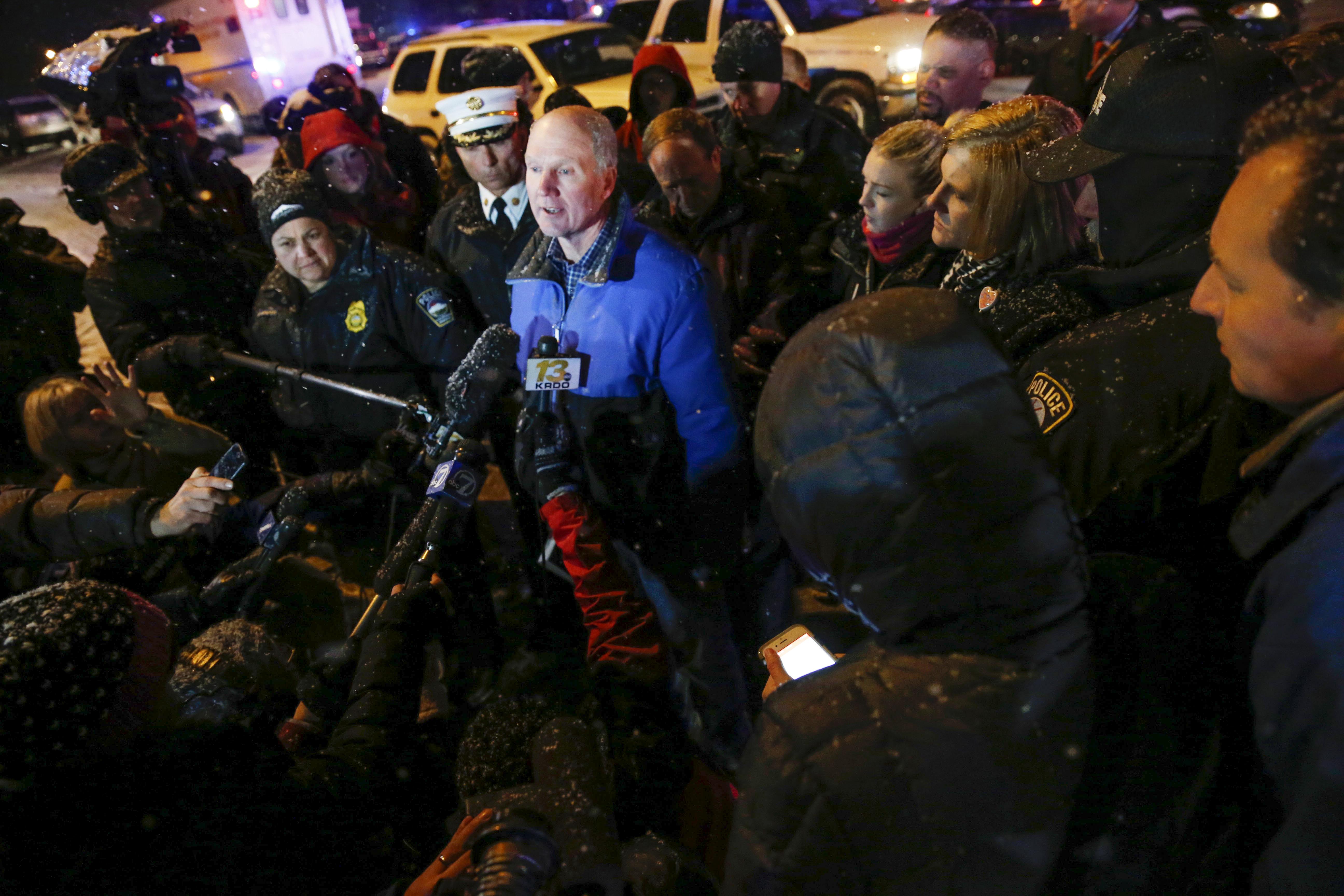 Photo: Media surrounds C Springs DA (AP Photo)
