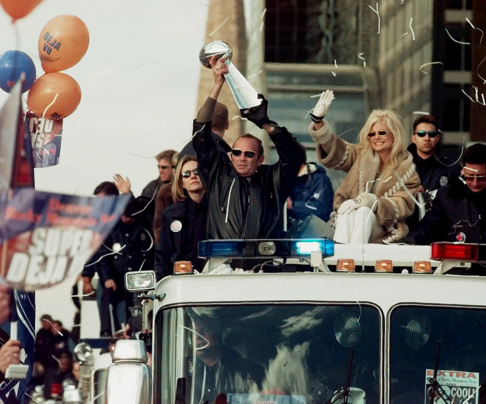Photo: Broncos 1999 victory parade (AP Photo)
