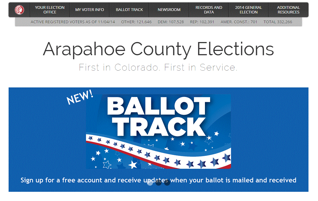 Photo: Arapahoe County Election website