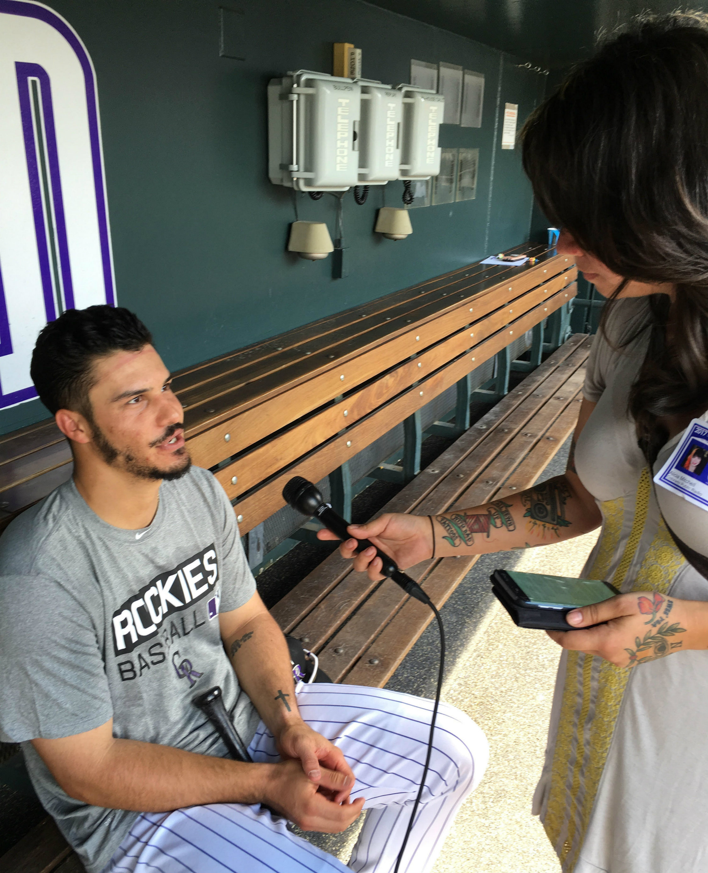 Photo: Rockies Nolan Arenado With Alicia Bruce Mitchell