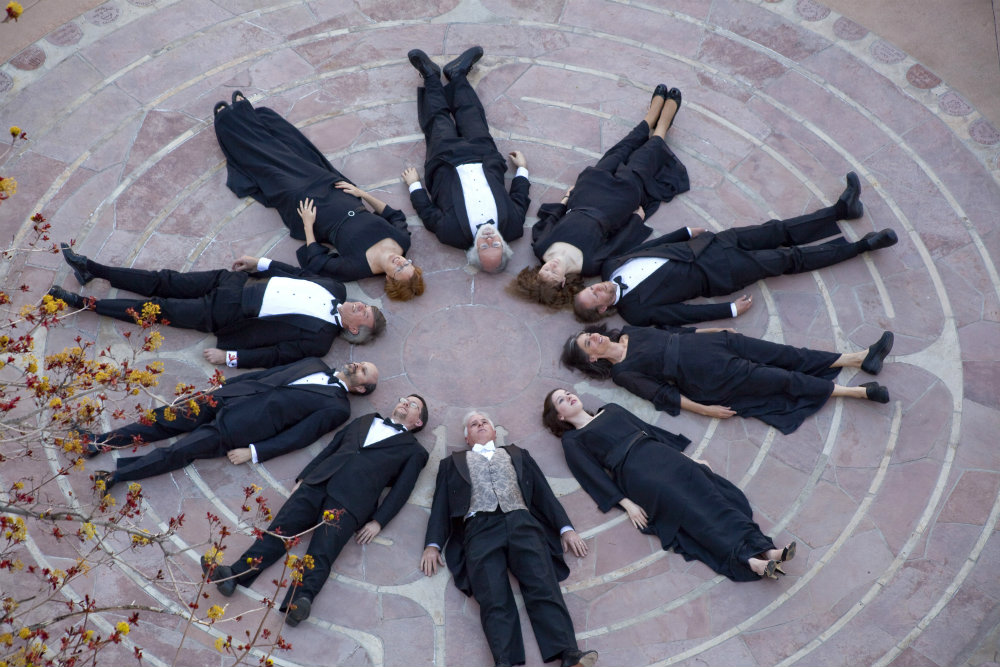 Photo: Ars Nova Singers looking up