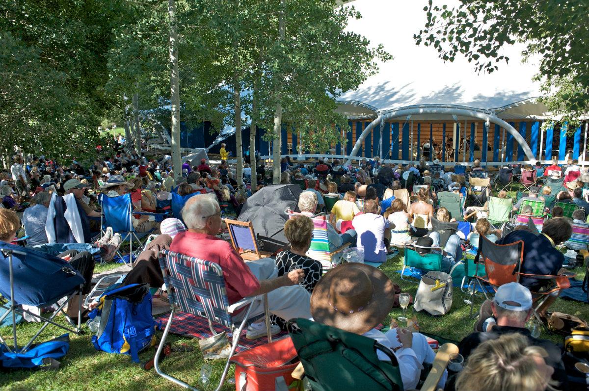 Photo: Aspen Music Festival outside tent