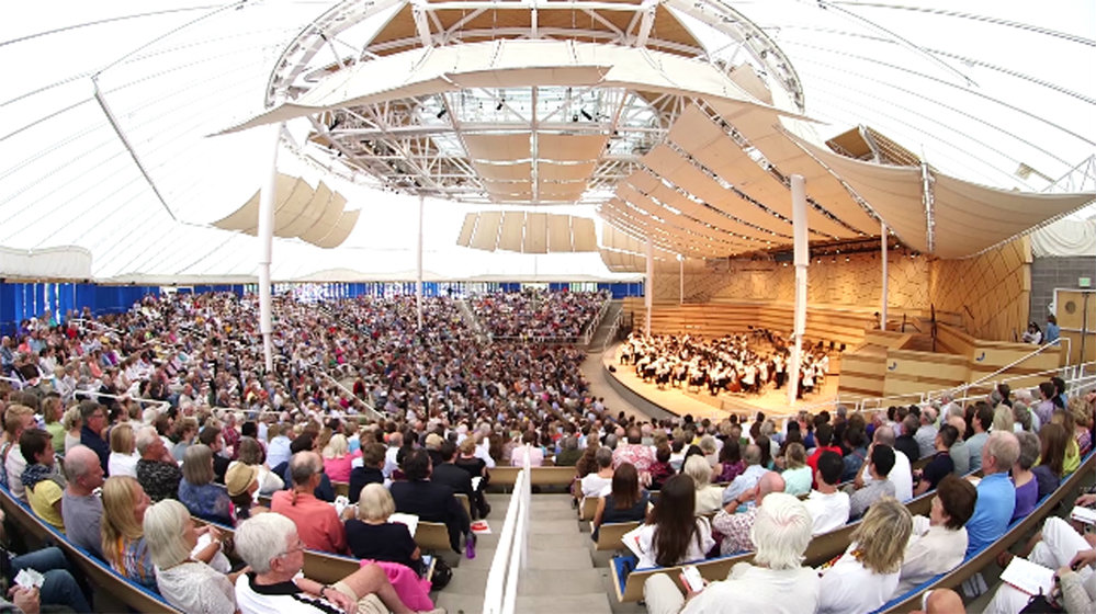 Photo: Aspen Music Festival in tent wide
