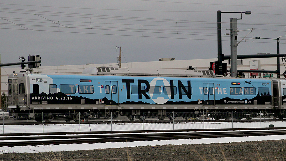 Photo: RTD A Train, On Rails Traveling To DIA