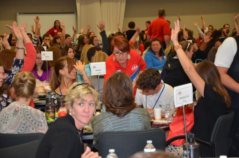 Photo: Aurora Education Association at new teacher orientation