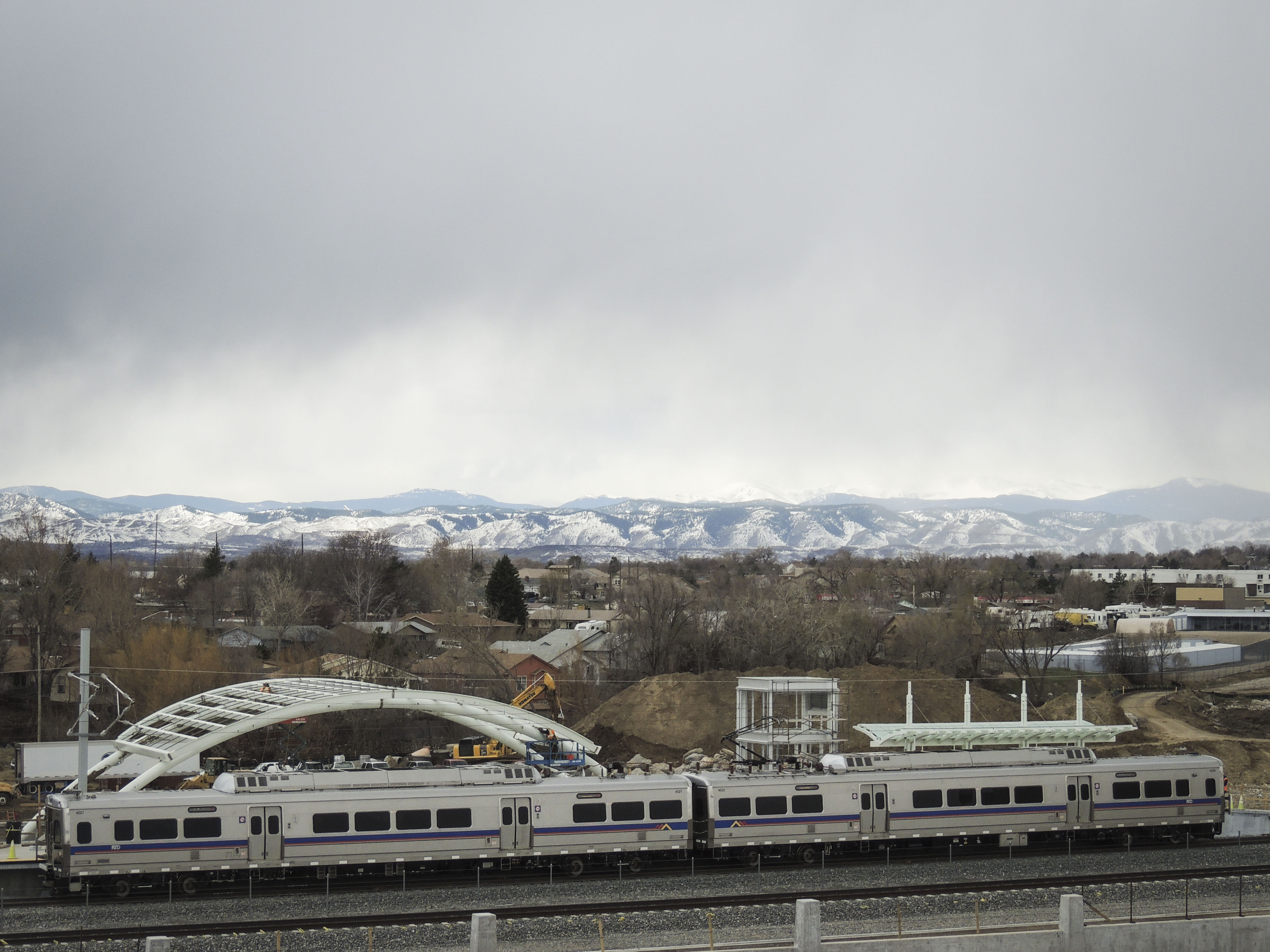 <p>A RTD B Line train at Westminster station. Eventually, RTD plans to extend the B Line through Boulder and to Longmont.</p>