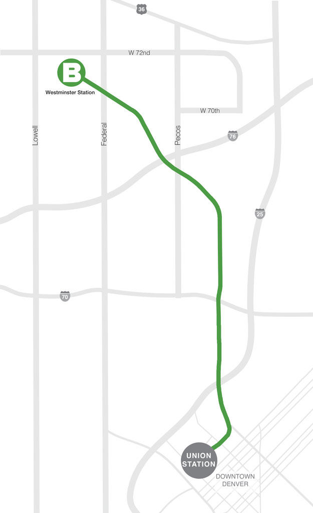 Map: RTD B Line
