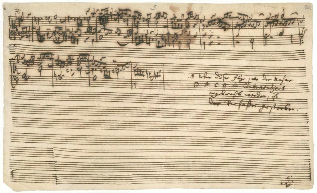 Photo: Final page of Bach's unfinished