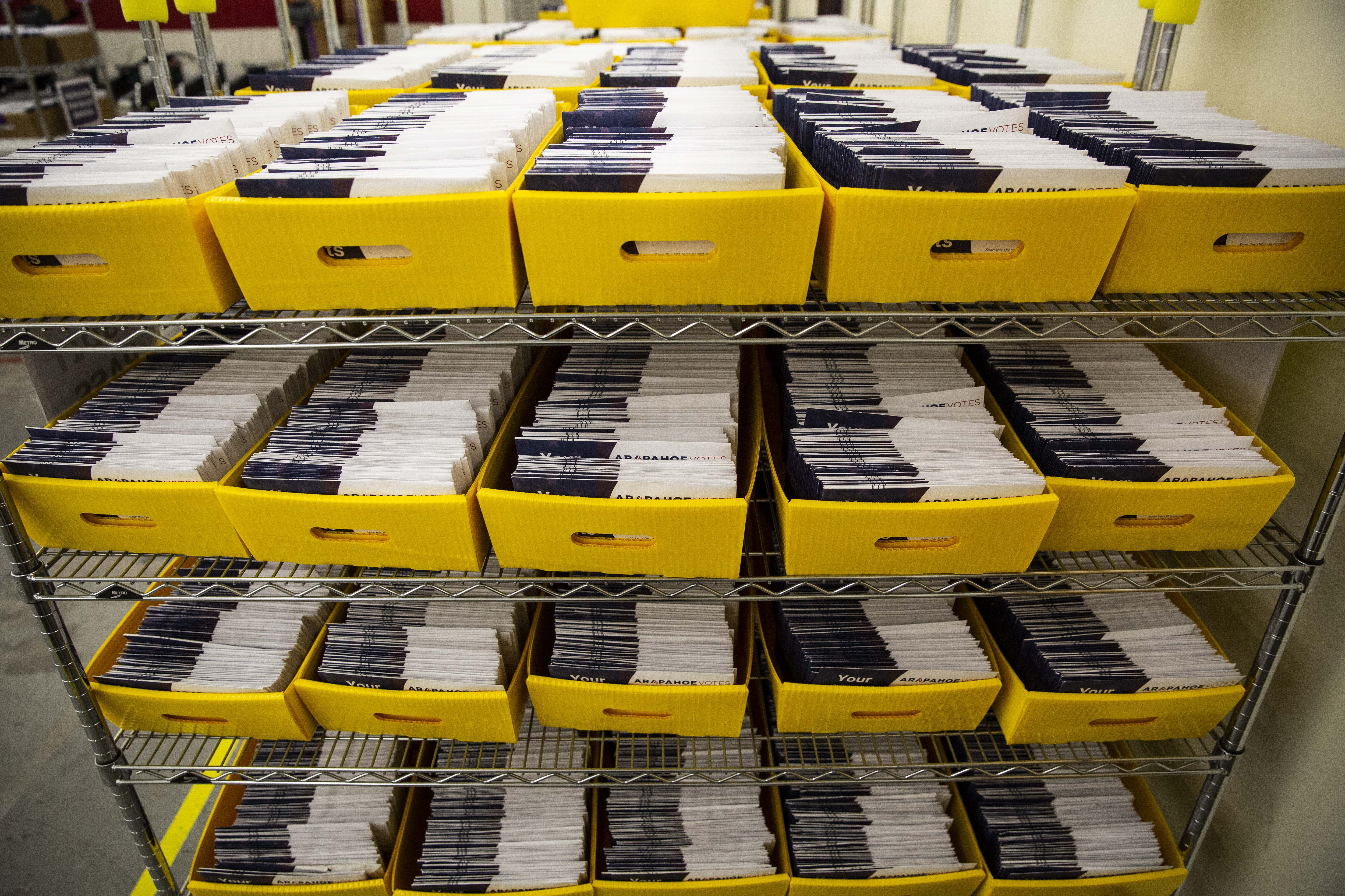Photo: Ballot Processing 10 | Boxes of ballots WIDE
