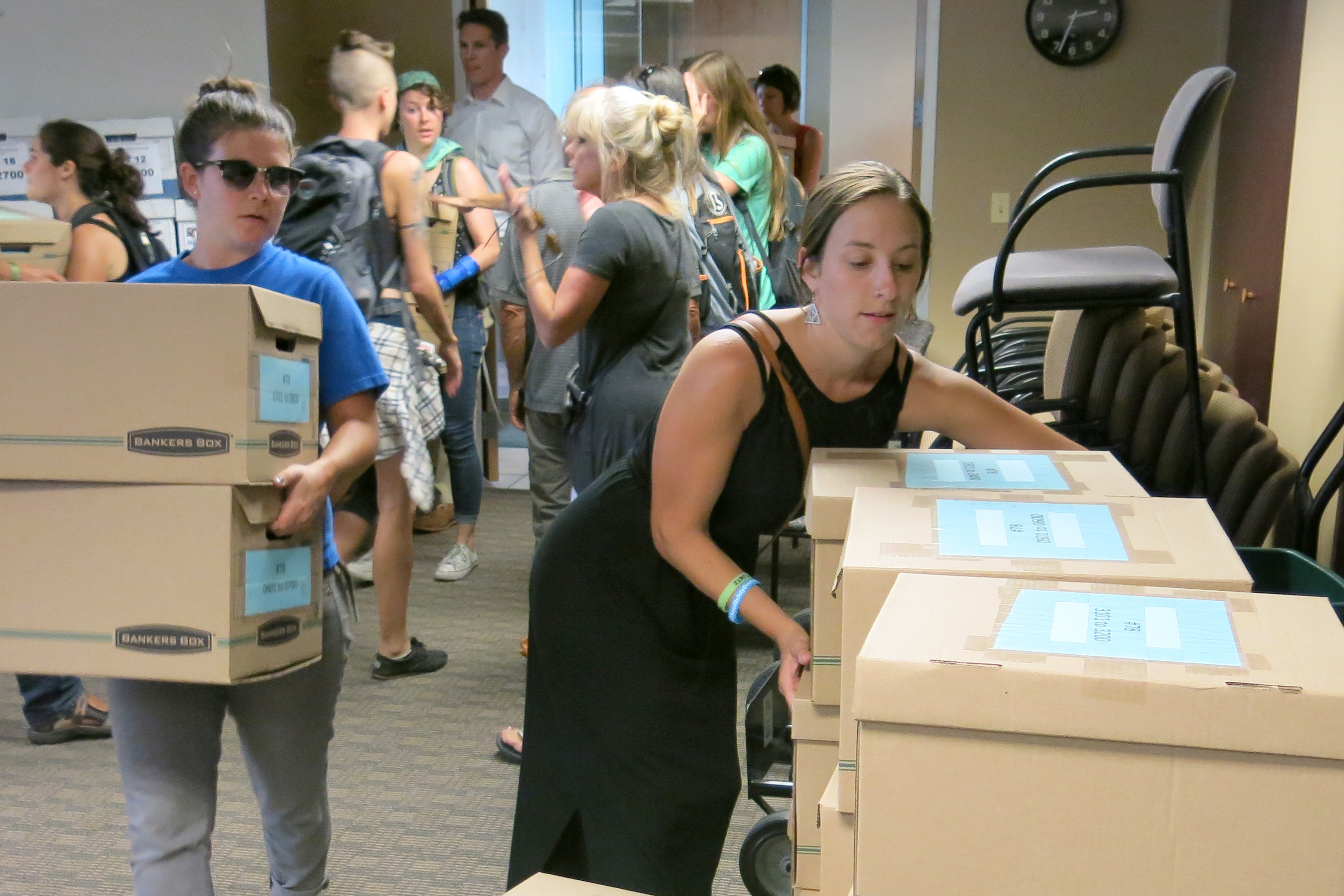 Photo: Oil And Gas Ballot Drop Off