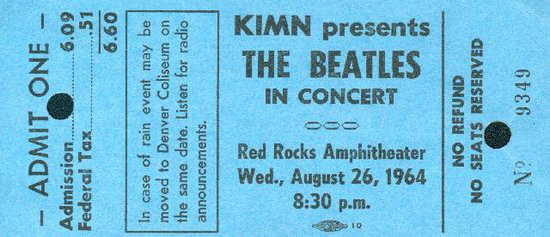 photo: beatles ticket