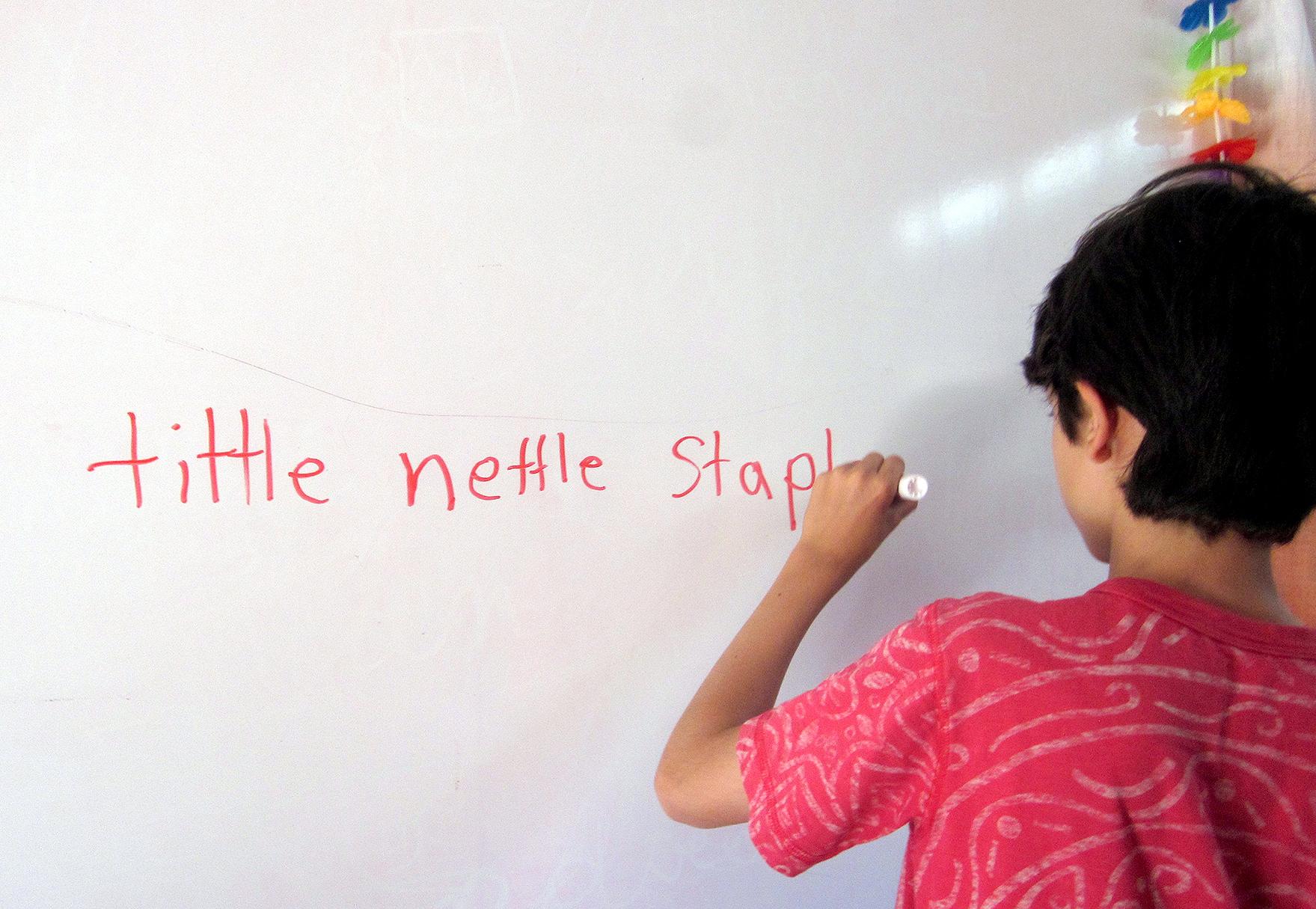 Photo: Dyslexia Camp, Writing On White Board