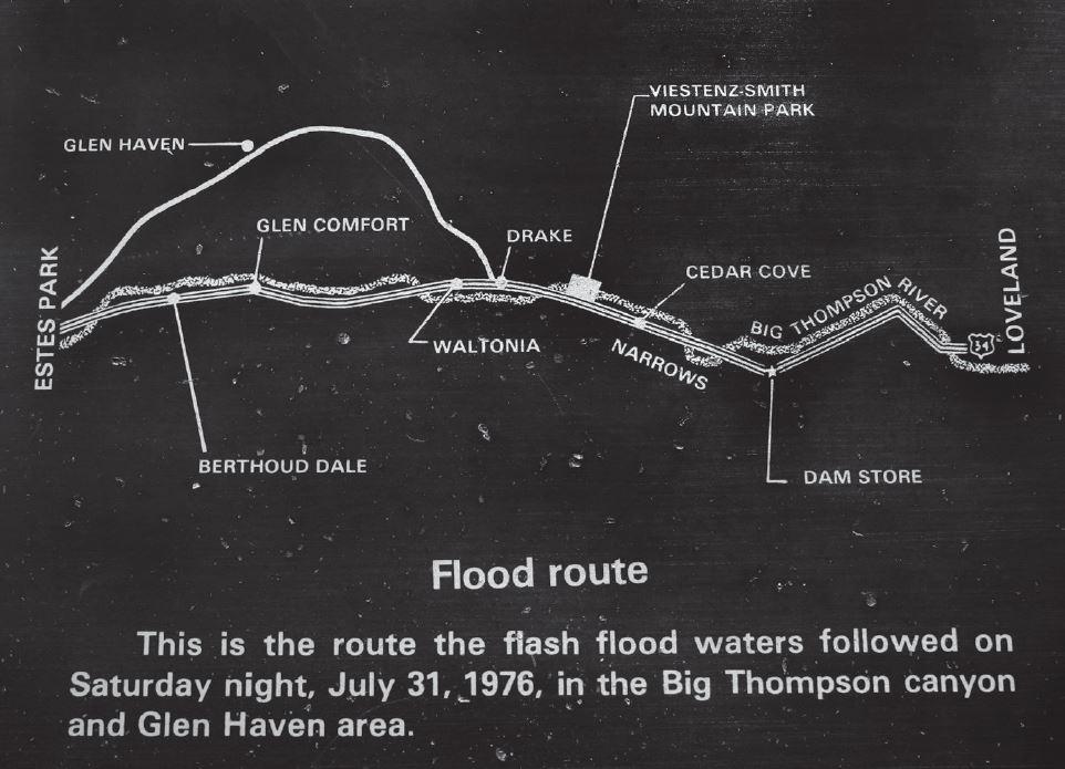 Image: Big Thompson Flood Route