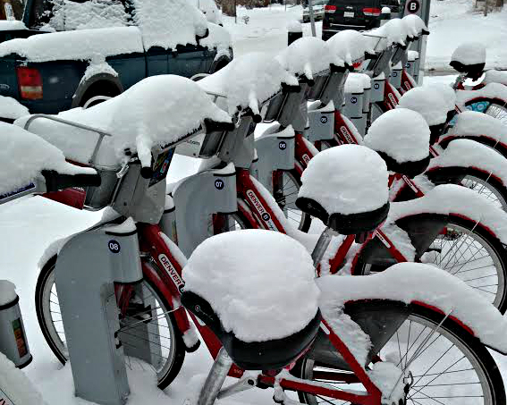 Photo: Bikes buried in snow 2-22-15