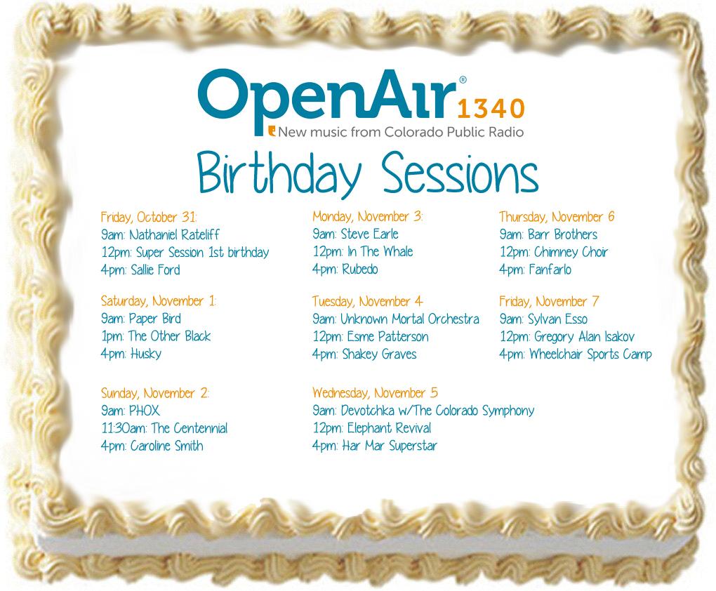photo: OpenAir Third Birthday programming schedule